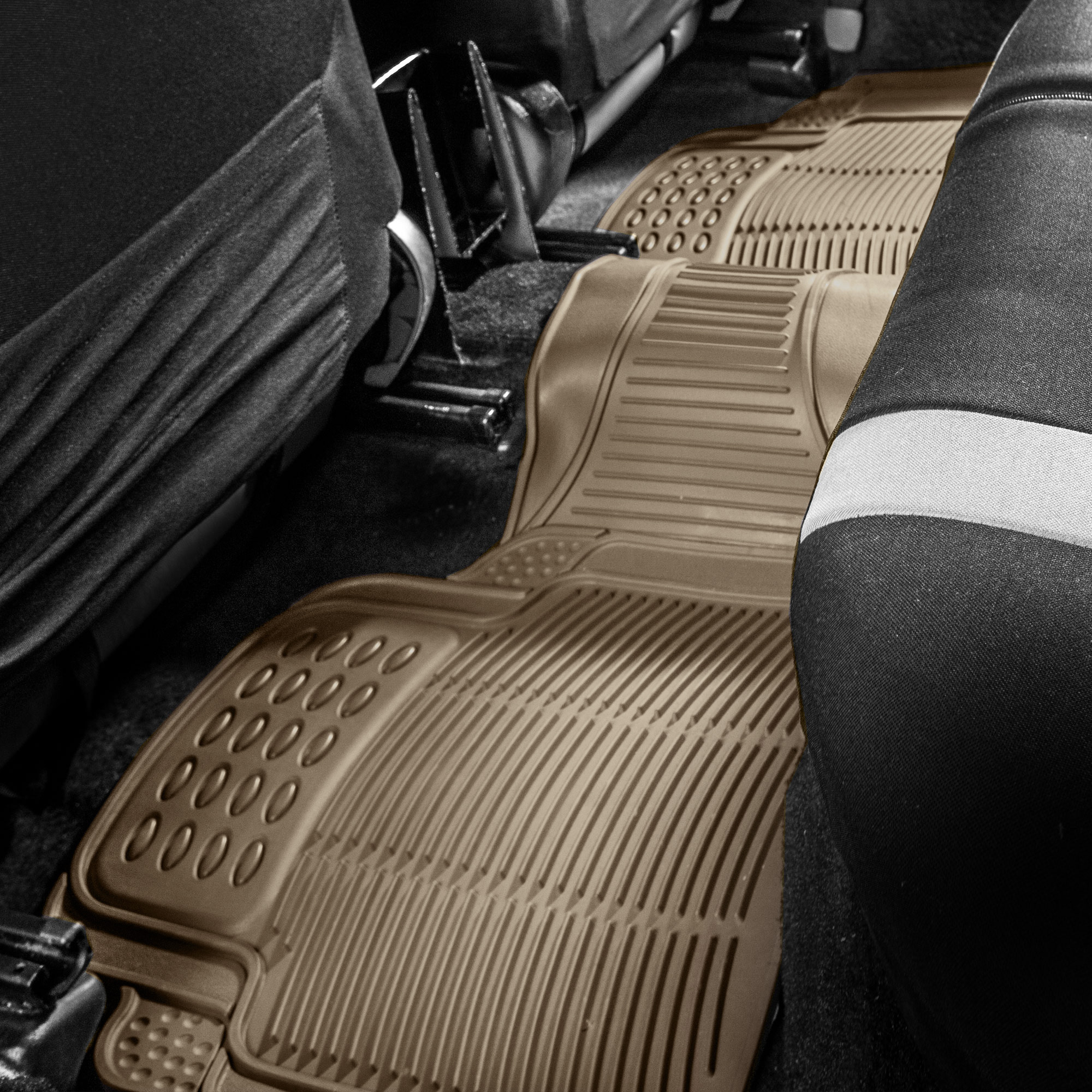 Suv Floor Mats >> Details About 1pc Rear Floor Mat For Auto Car Suv Van Beige Trim To Fit All Weather