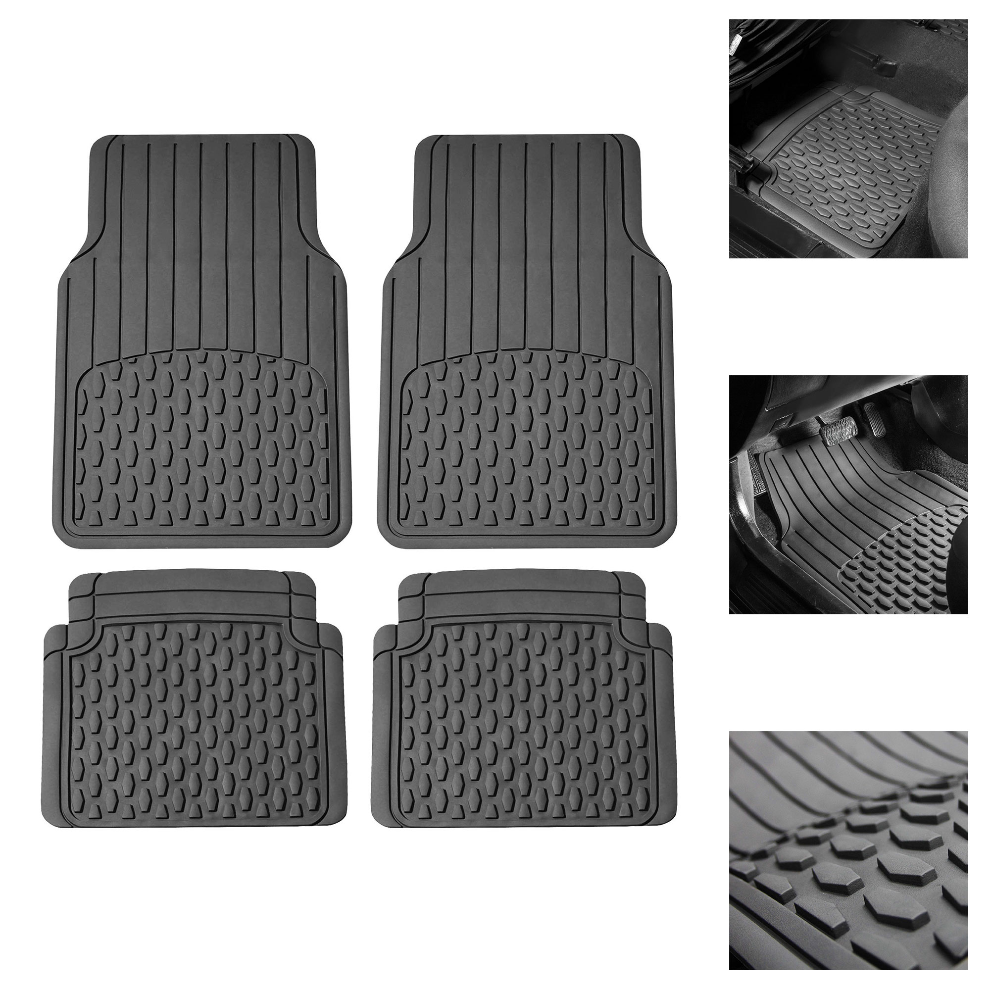 Full Set Trimmable Custom Fit FH Group F11308GRAY Gray All Weather Floor Mat