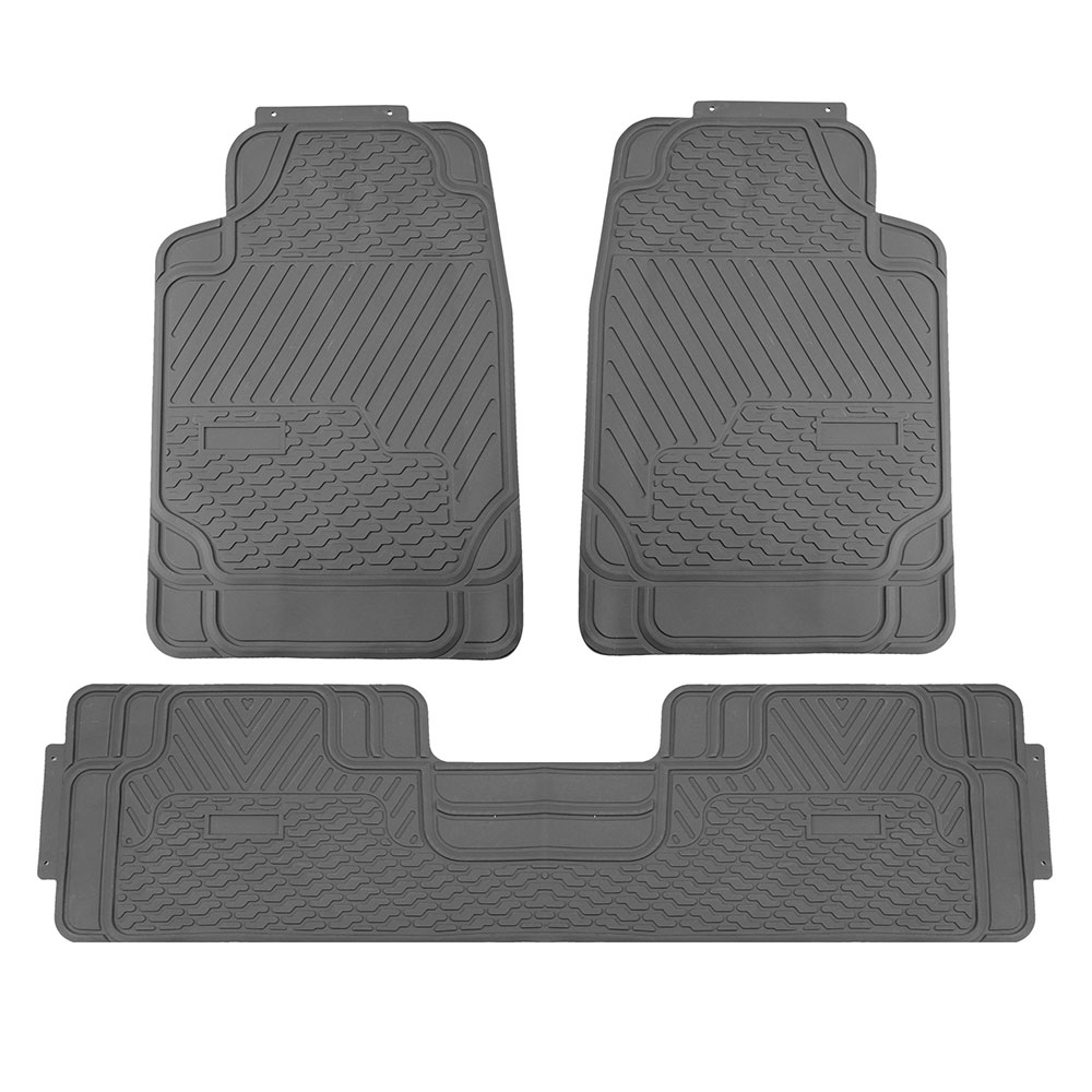 PU Leather Built-in Seat Belt Seat Covers W/Gray Floor