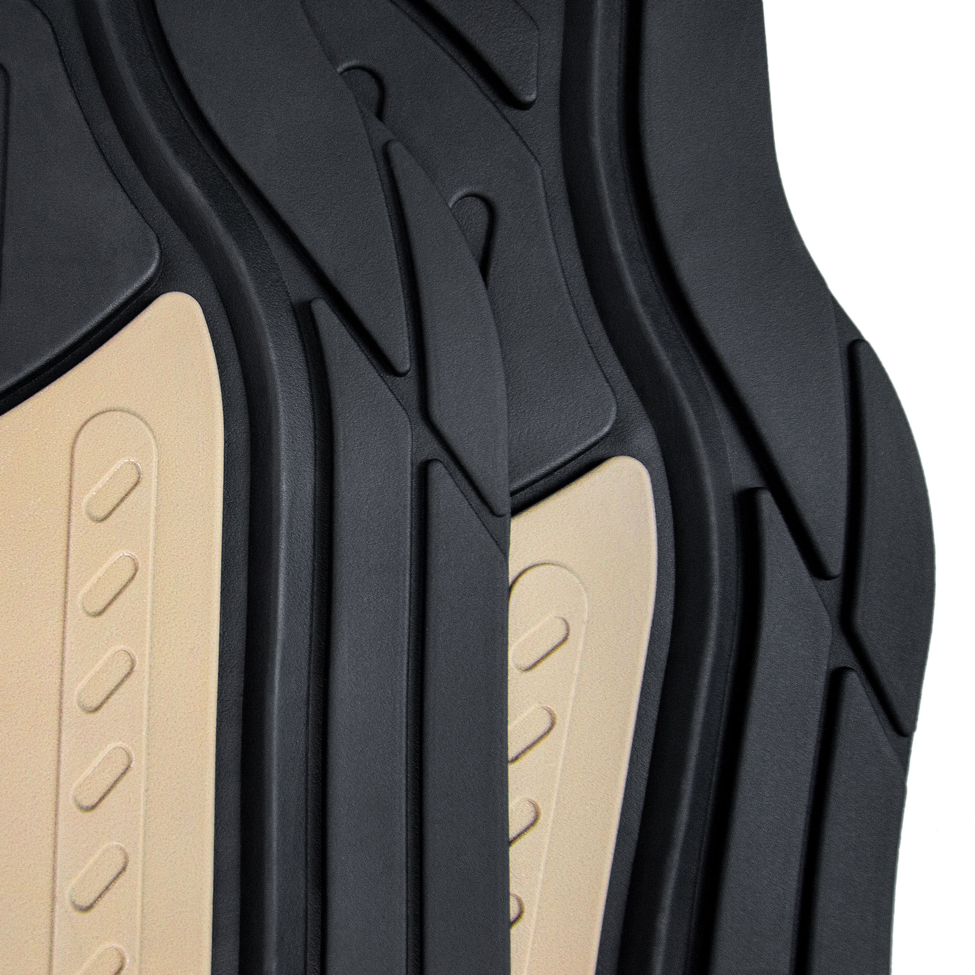 Car-Floor-Mats-for-All-Weather-Rubber-2-Tone-Design-4pc-Set-Heavy-Duty thumbnail 4