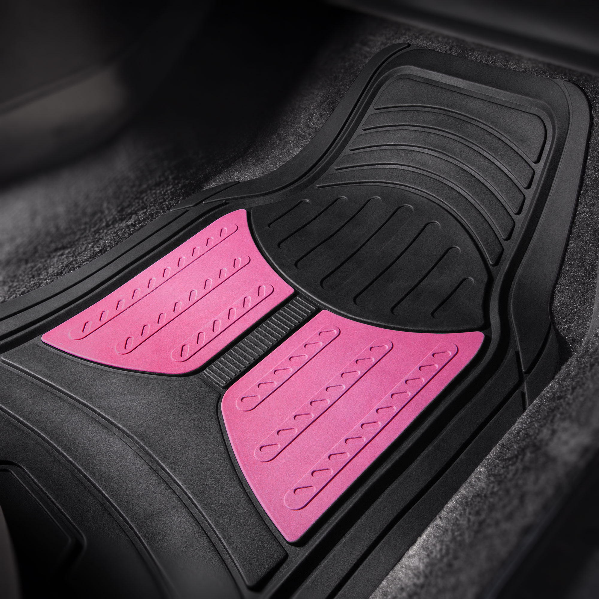 Car-Floor-Mats-for-All-Weather-Rubber-2-Tone-Design-4pc-Set-Heavy-Duty thumbnail 27