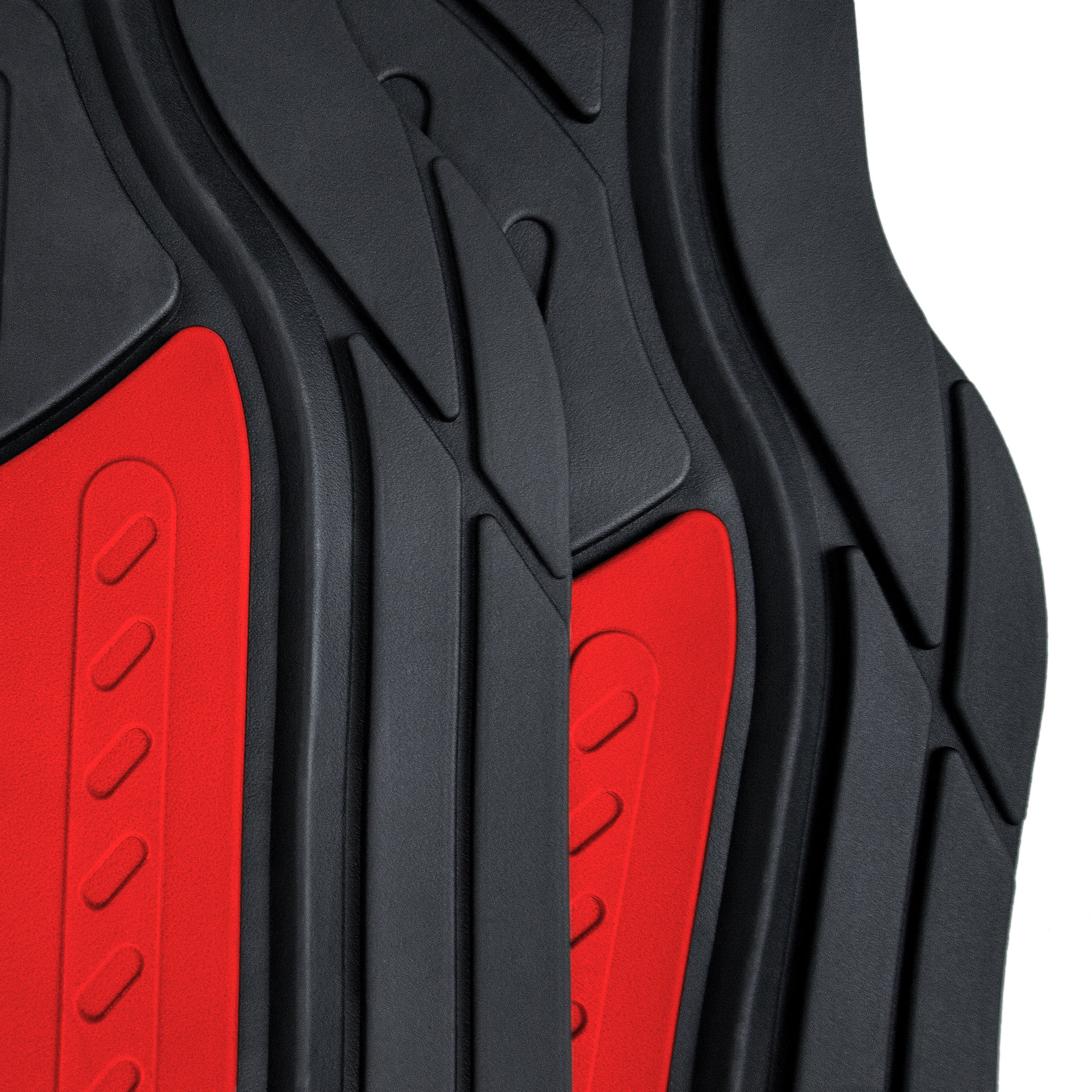 Car-Floor-Mats-for-All-Weather-Rubber-2-Tone-Design-4pc-Set-Heavy-Duty thumbnail 33