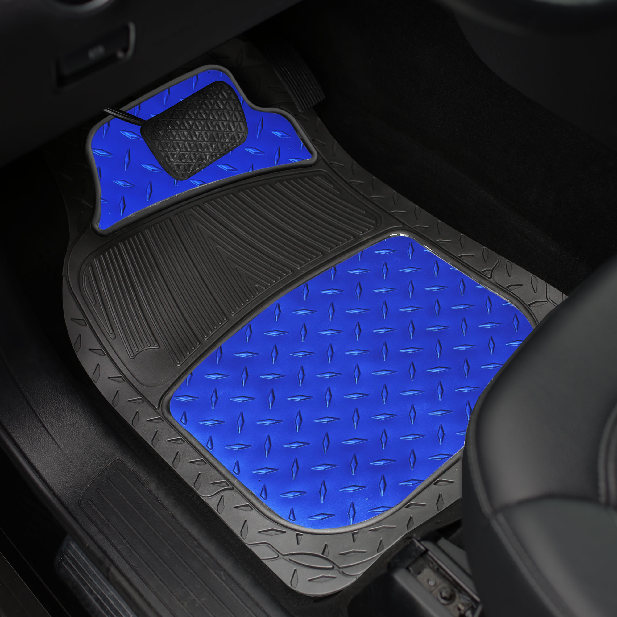 Metallic Rubber Floor Mats For Car Suv Truck Semi Trimmable Heavy
