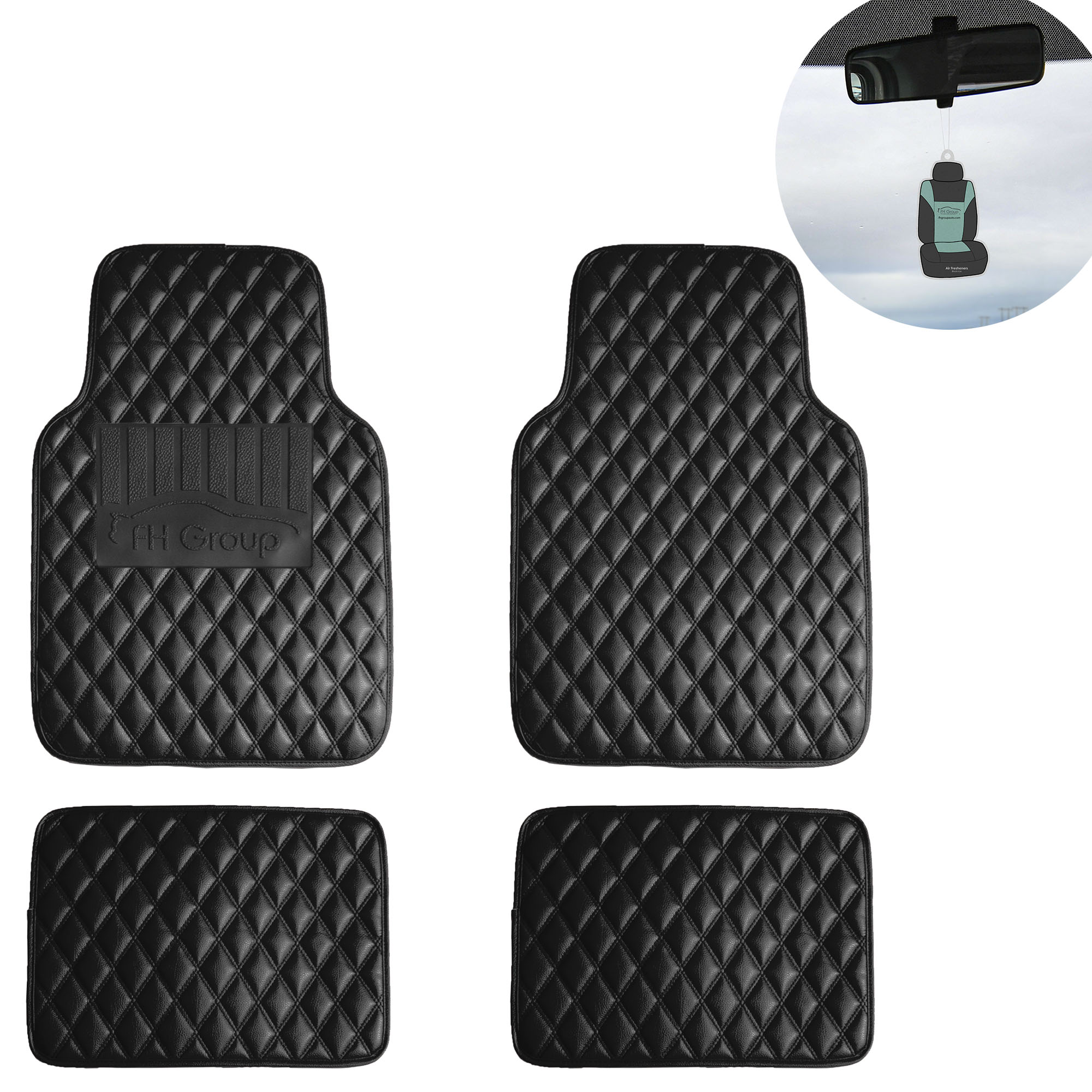 Suv Floor Mats >> Universal Floor Mats For Cars Leather Diamond Design Car Suv Black W
