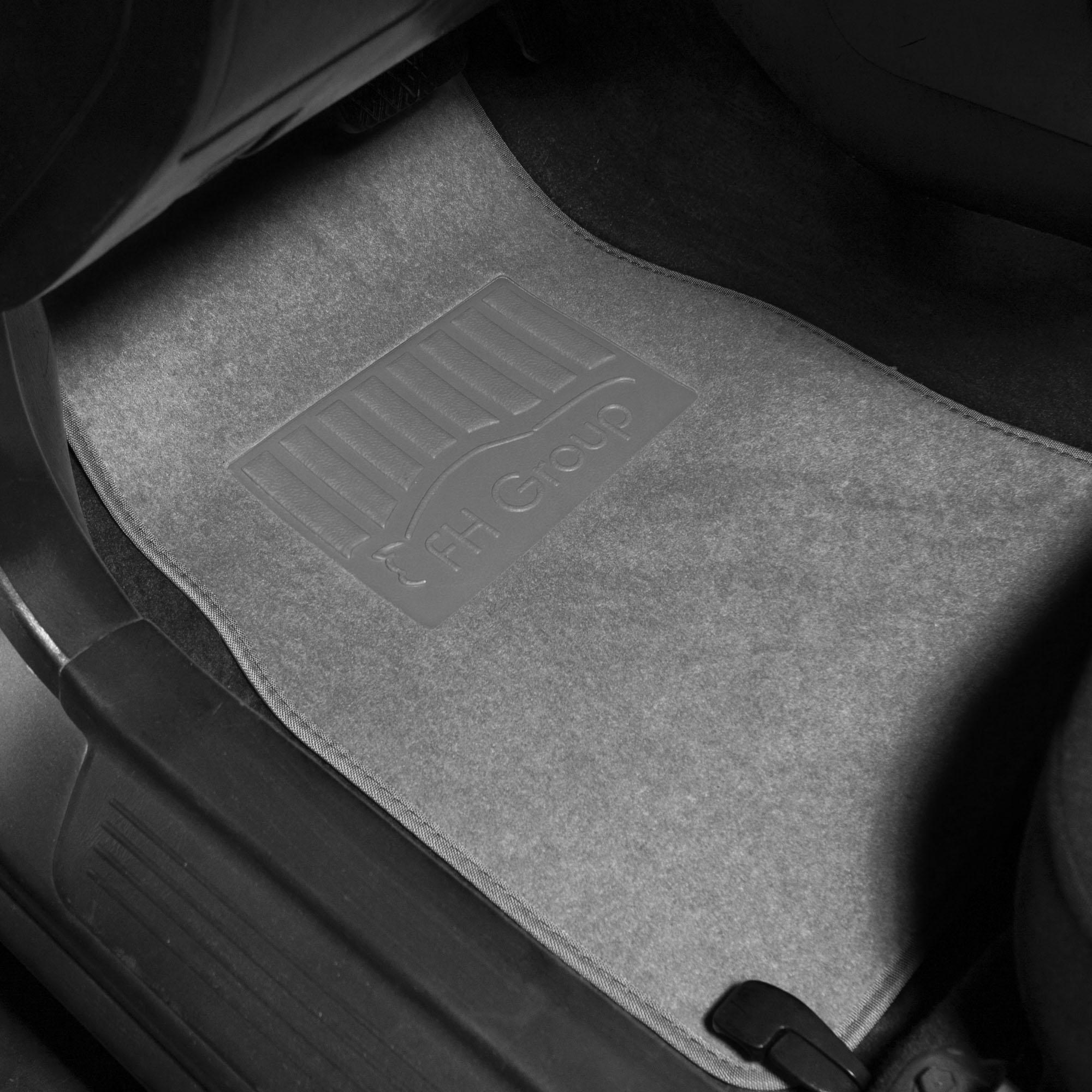 Universal Floor Mats for Auto Car SUV Van Carpet Liner Beige w// Black Dash Mat