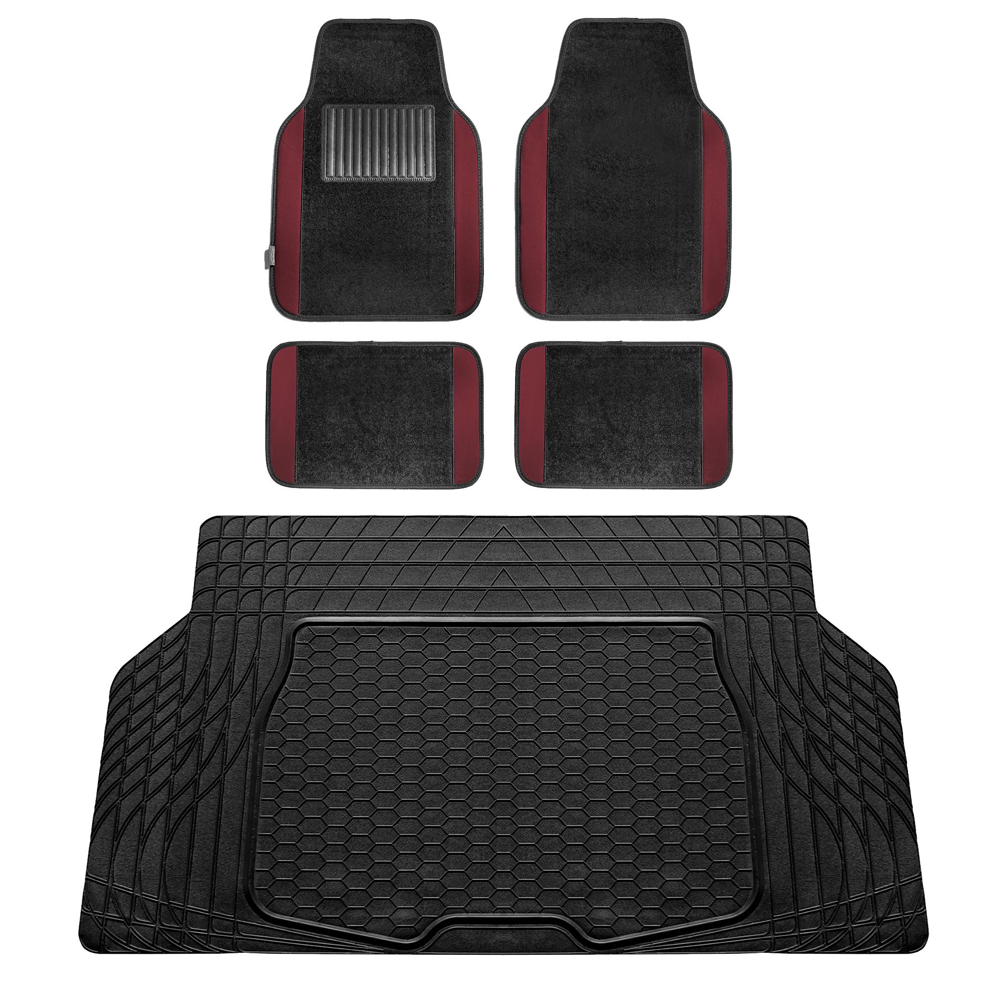 Coverking Custom Fit Front Floor Mats for Select Ranger Models Nylon Carpet Black