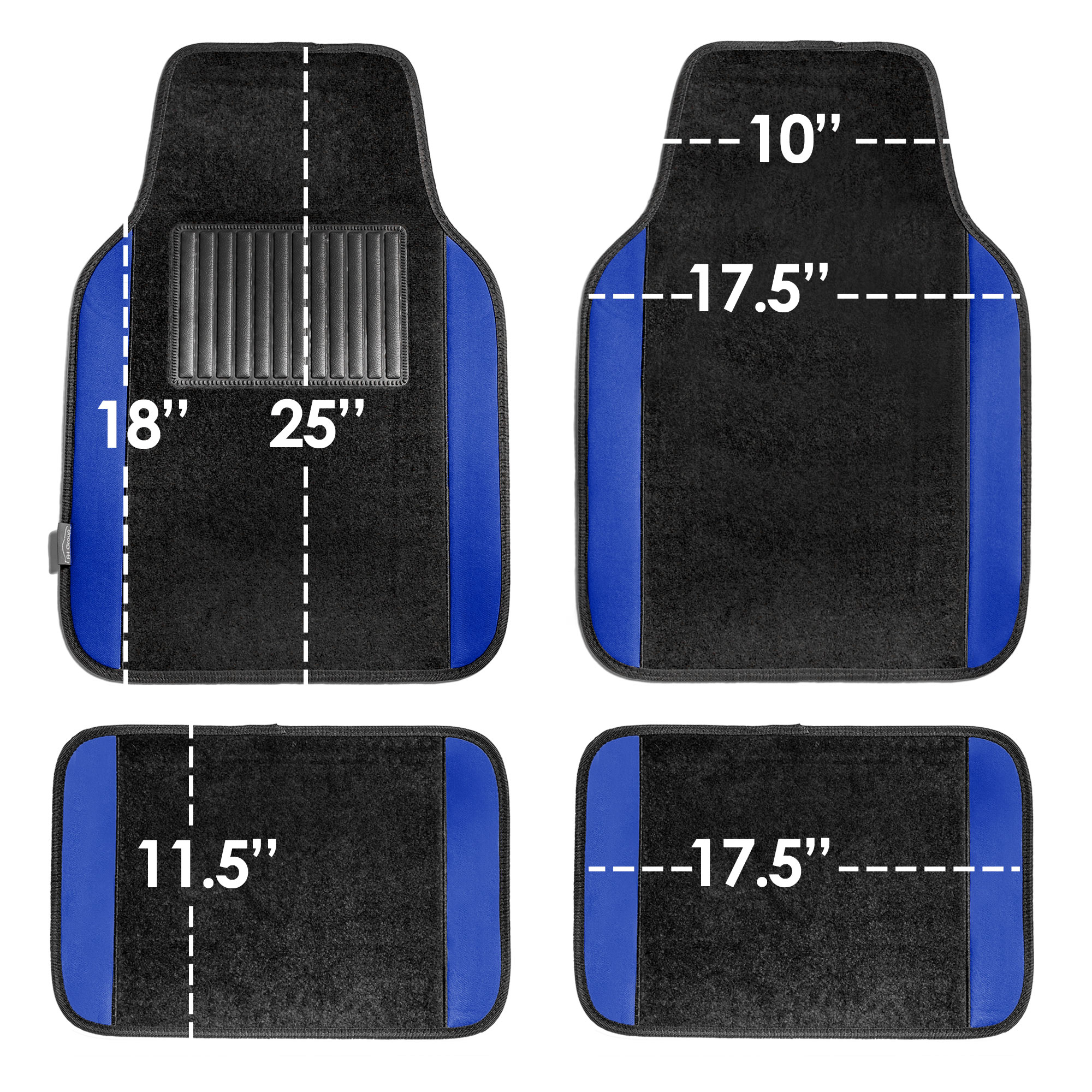 4pcs-Universal-Carpet-Floor-Mats-for-Car-SUV-Van-10-Color-Options-Full-Set thumbnail 12