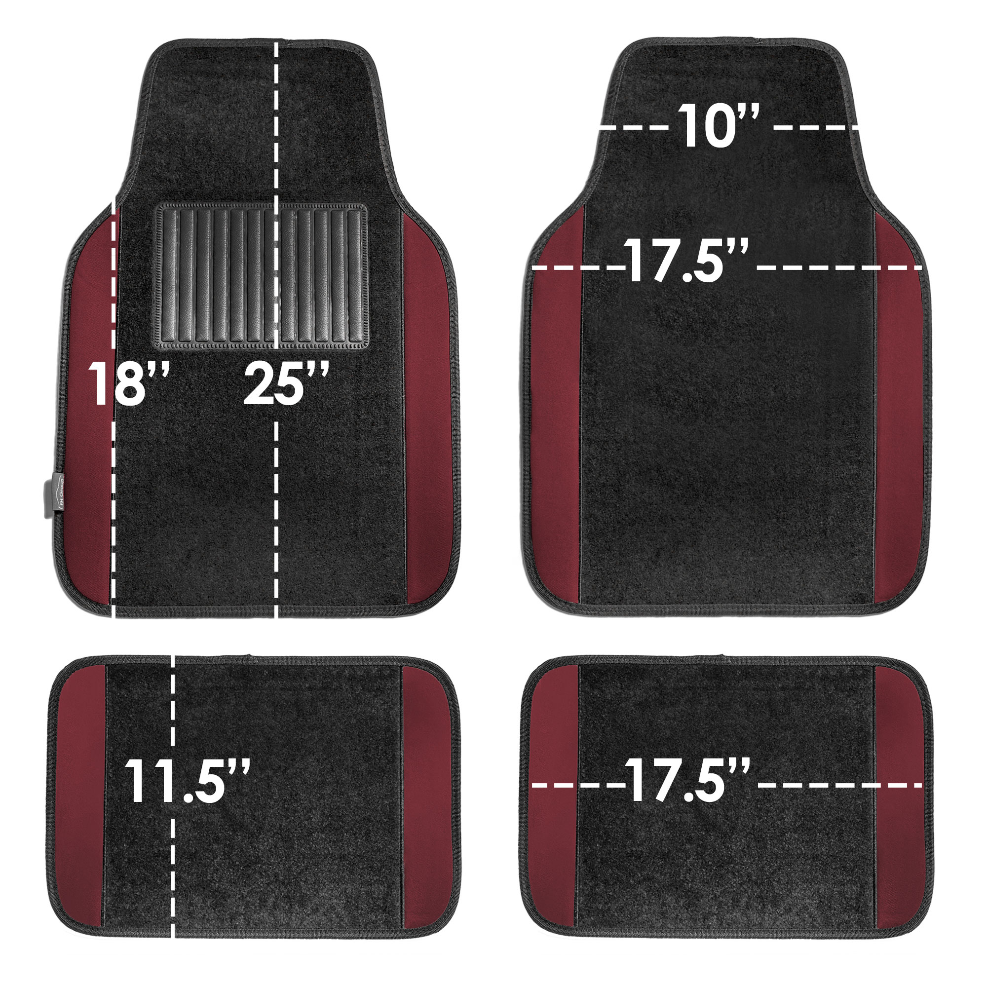 4pcs-Universal-Carpet-Floor-Mats-for-Car-SUV-Van-10-Color-Options-Full-Set thumbnail 19