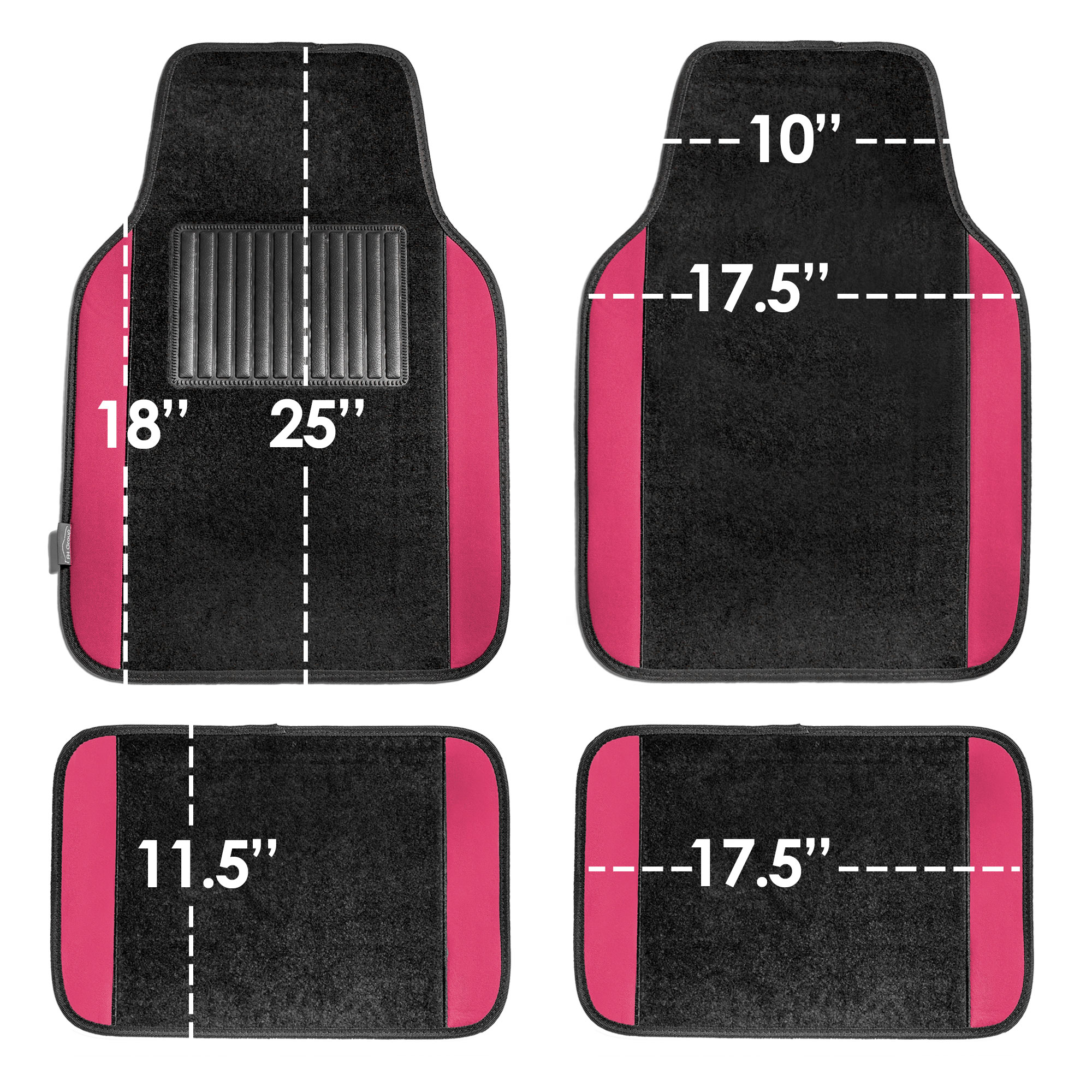 4pcs-Universal-Carpet-Floor-Mats-for-Car-SUV-Van-10-Color-Options-Full-Set thumbnail 46