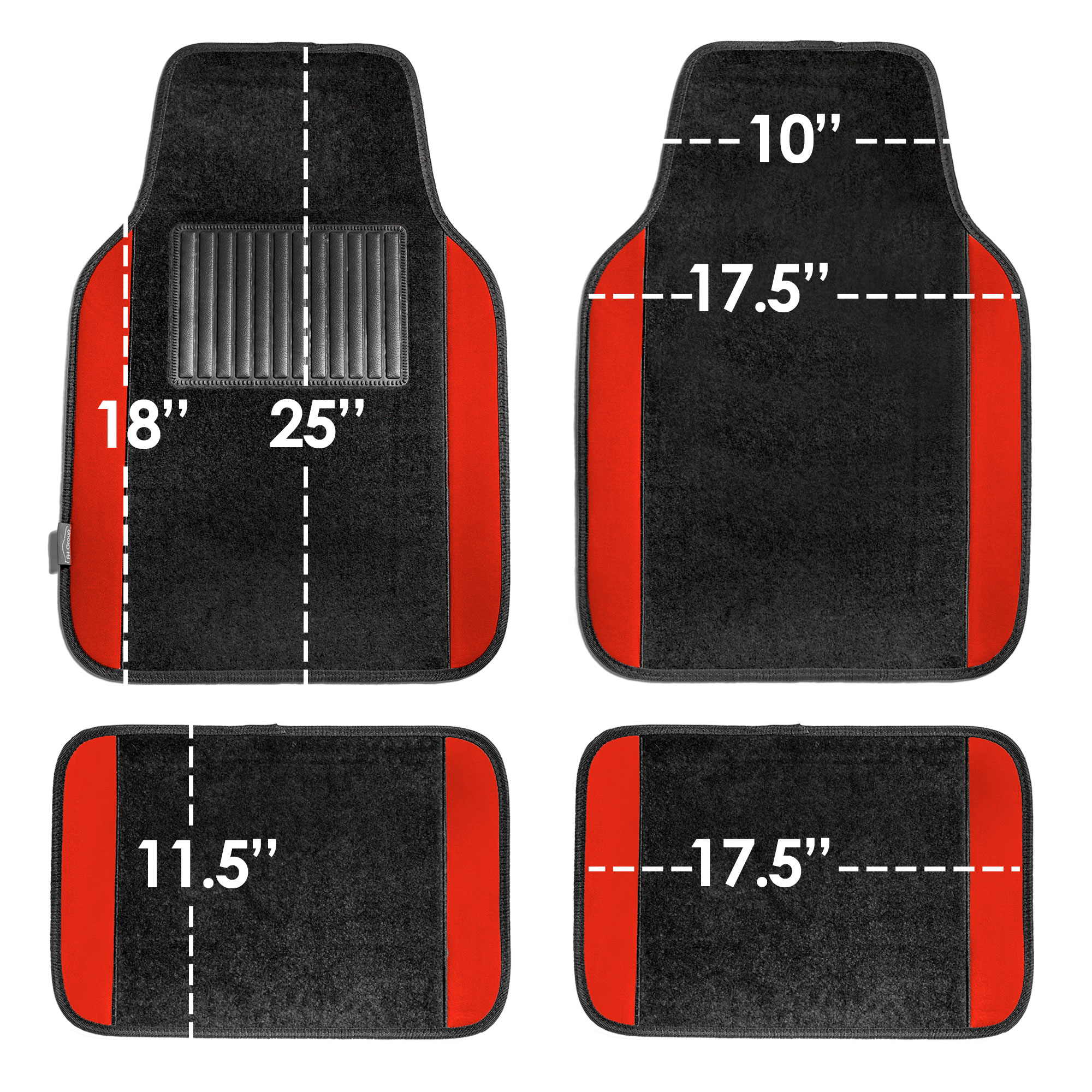 4pcs-Universal-Carpet-Floor-Mats-for-Car-SUV-Van-10-Color-Options-Full-Set thumbnail 59