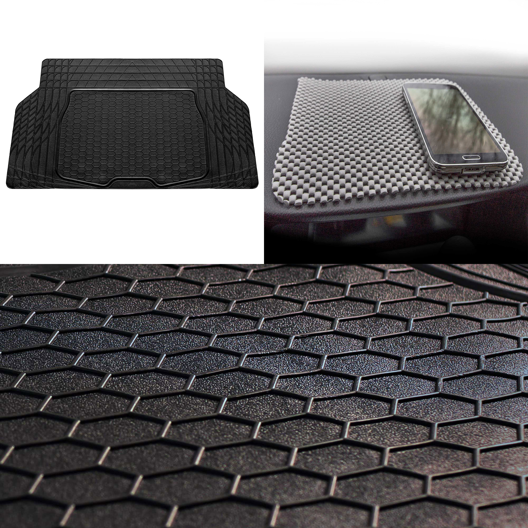 Semi Custom Cargo Mat Trimmable Black for Auto Car SUV Van Truck
