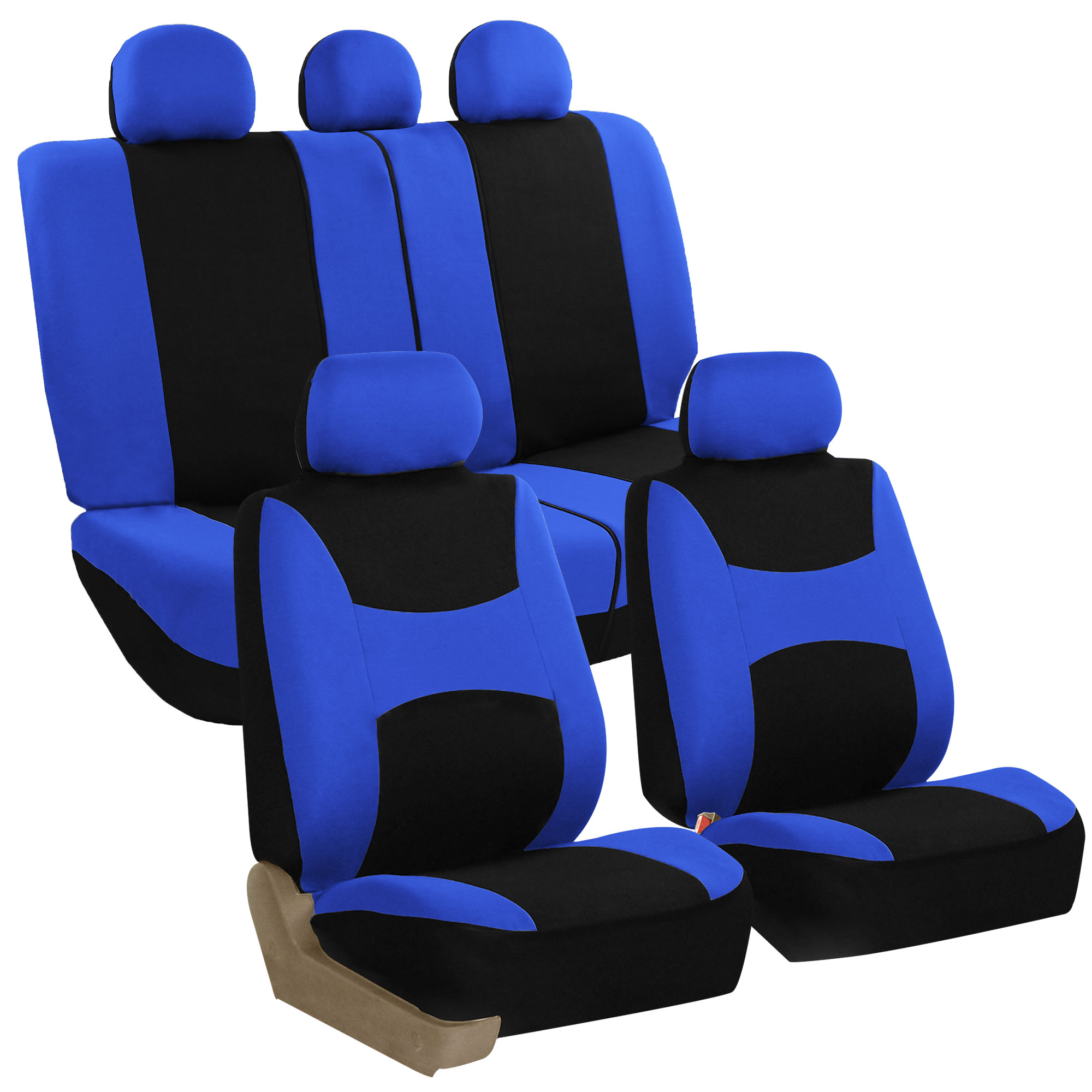 Car Seat Cover For Cars Full Set BLUE With 5 Headrest Covers
