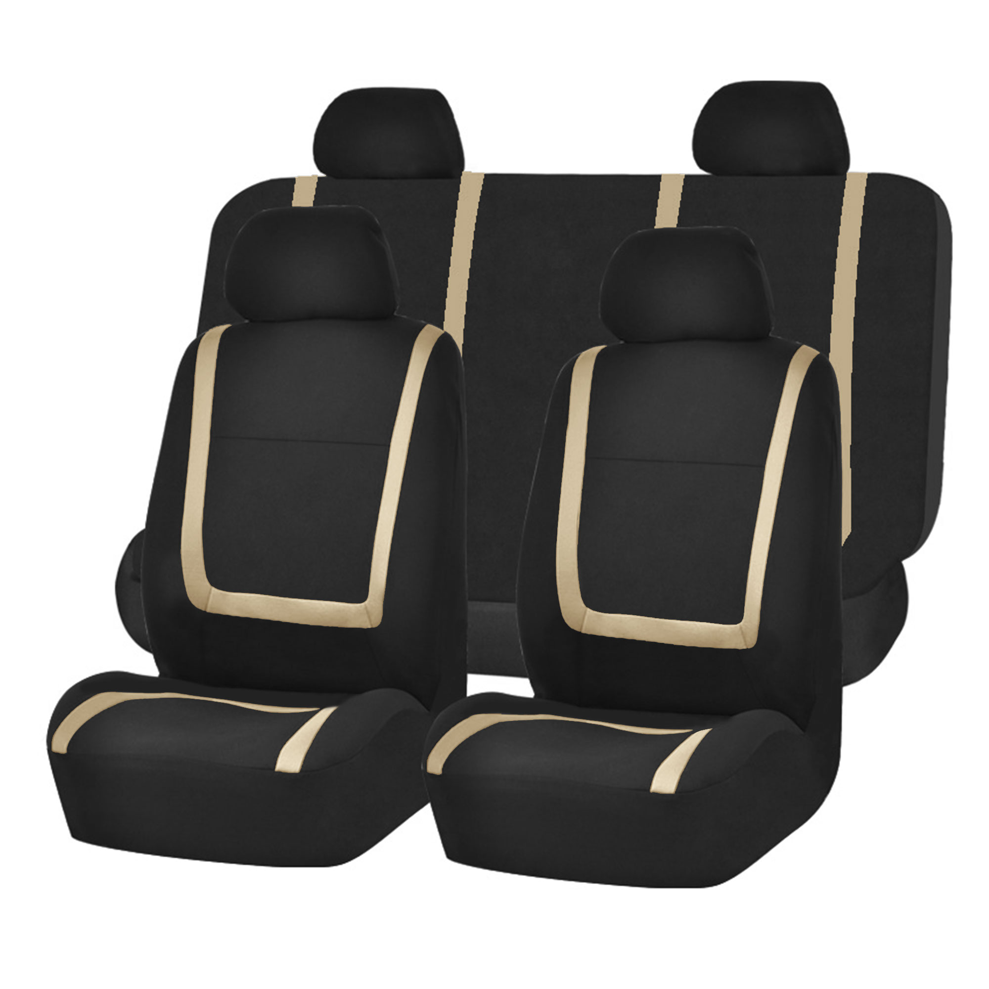 Auto Seat Covers for Car Sedan Truck Van Universal Seat Covers 12 Colors Beige