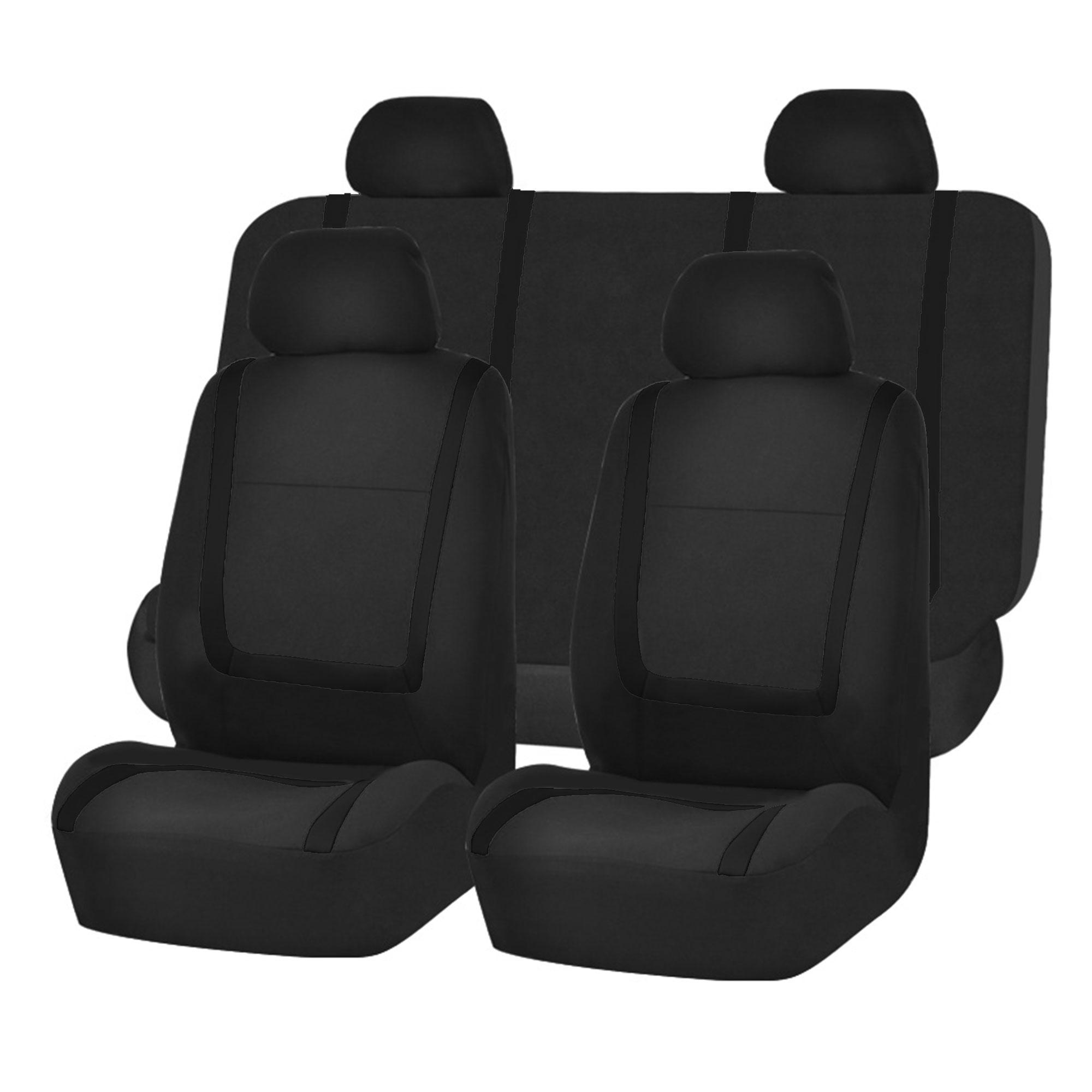 Auto Seat Covers for Car Sedan Truck Van Universal Seat Covers 12 Colors Black