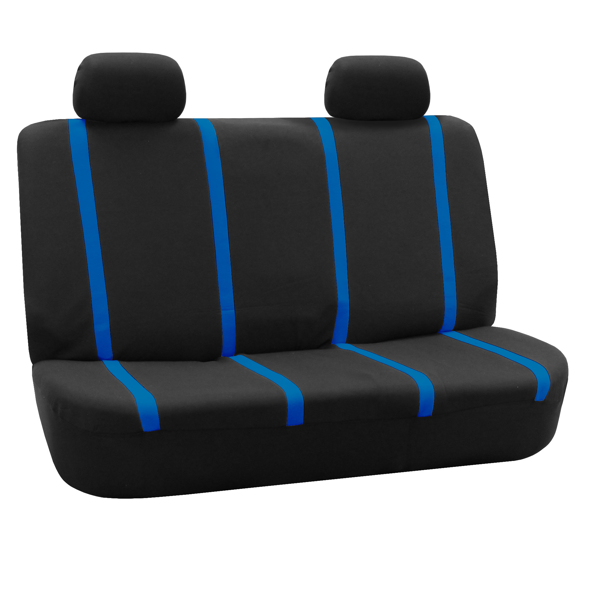 Car Seat Covers Blue Black Set for Auto W head Rests Tissue