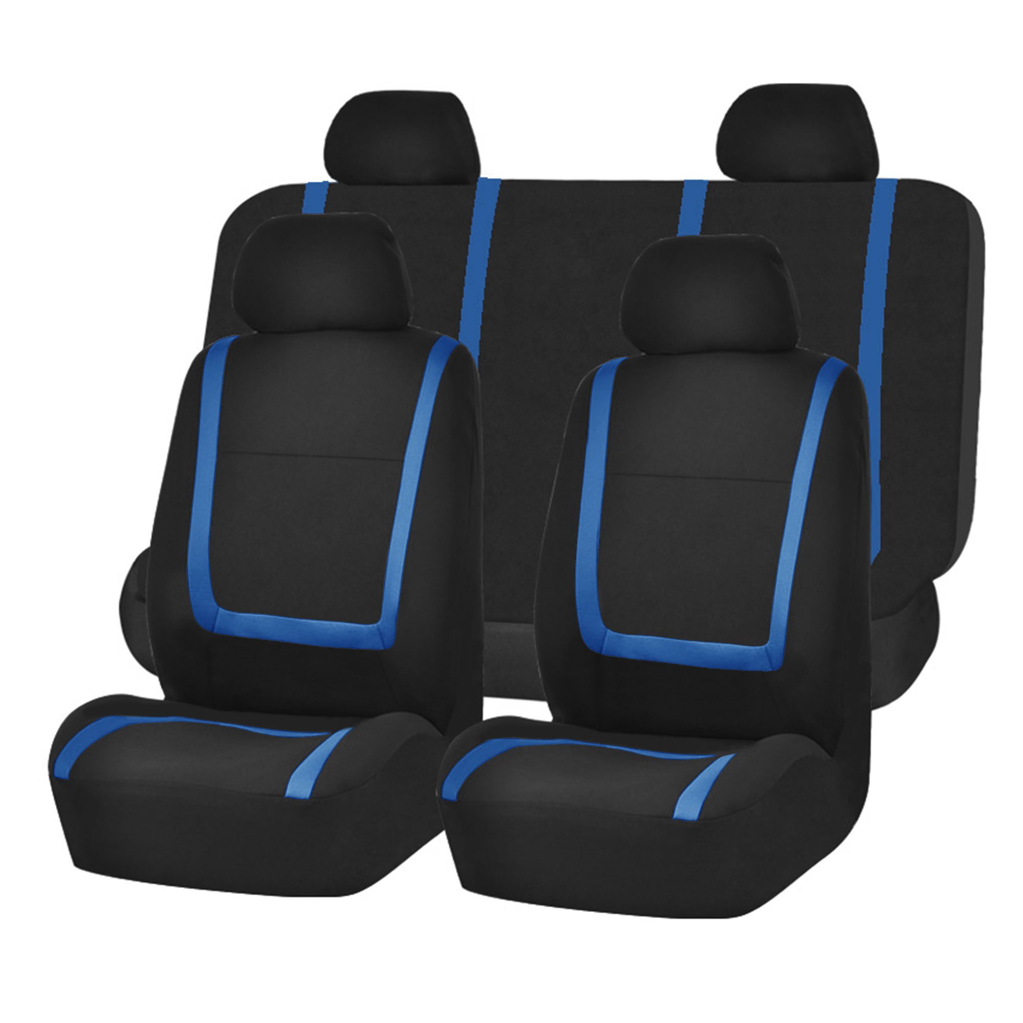 Auto Seat Covers for Car Sedan Truck Van Universal Seat Covers 12 Colors Blue