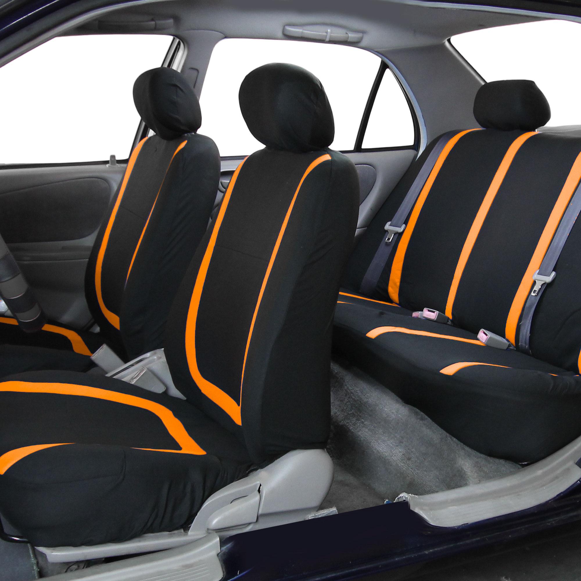 auto seat covers for car sedan truck van universal seat covers 12 colors ebay. Black Bedroom Furniture Sets. Home Design Ideas