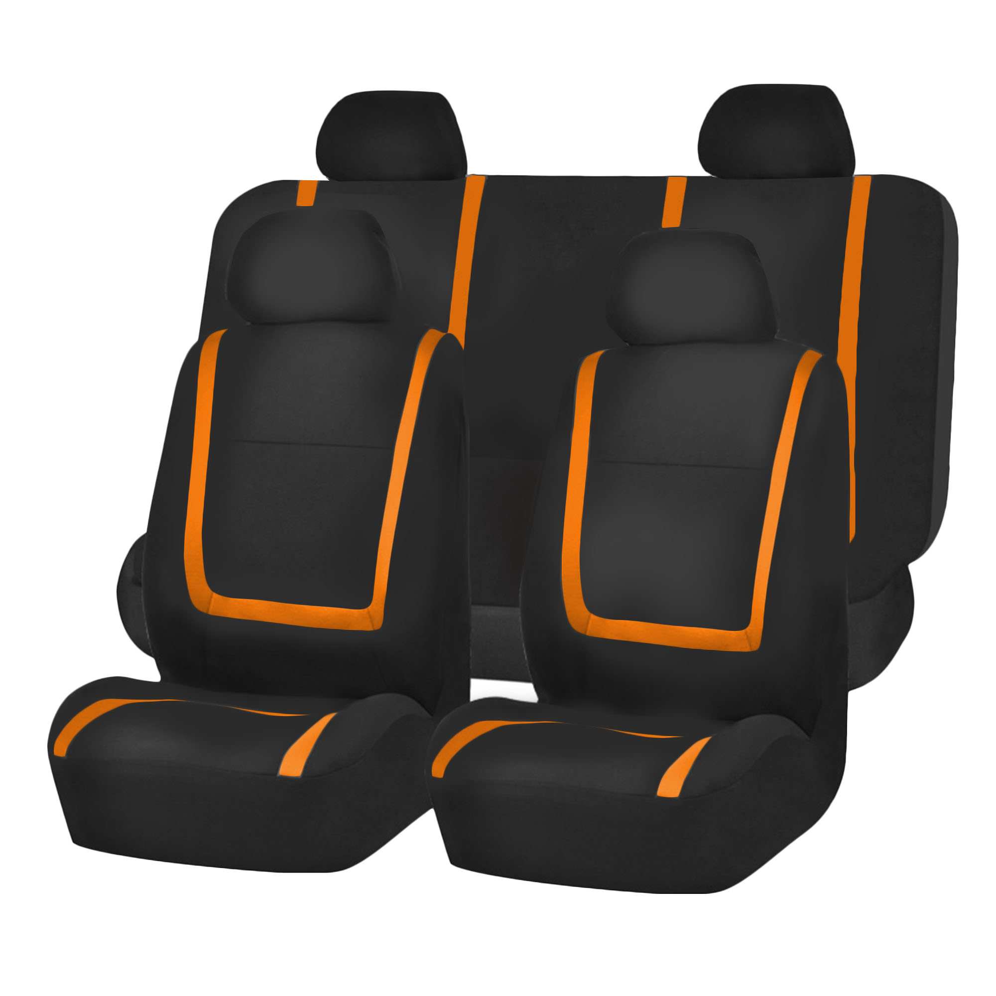 Auto Seat Covers for Car Sedan Truck Van Universal Seat Covers 12 Colors Orange