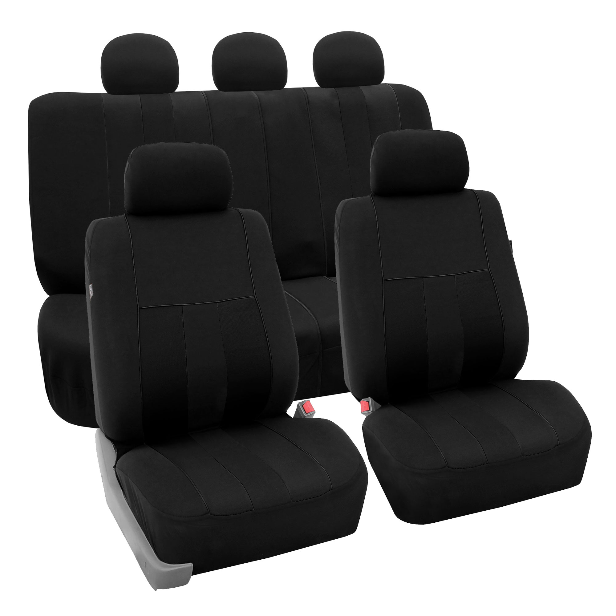 Full Set Car Seat Covers For Auto SUV Van Black W/ 4