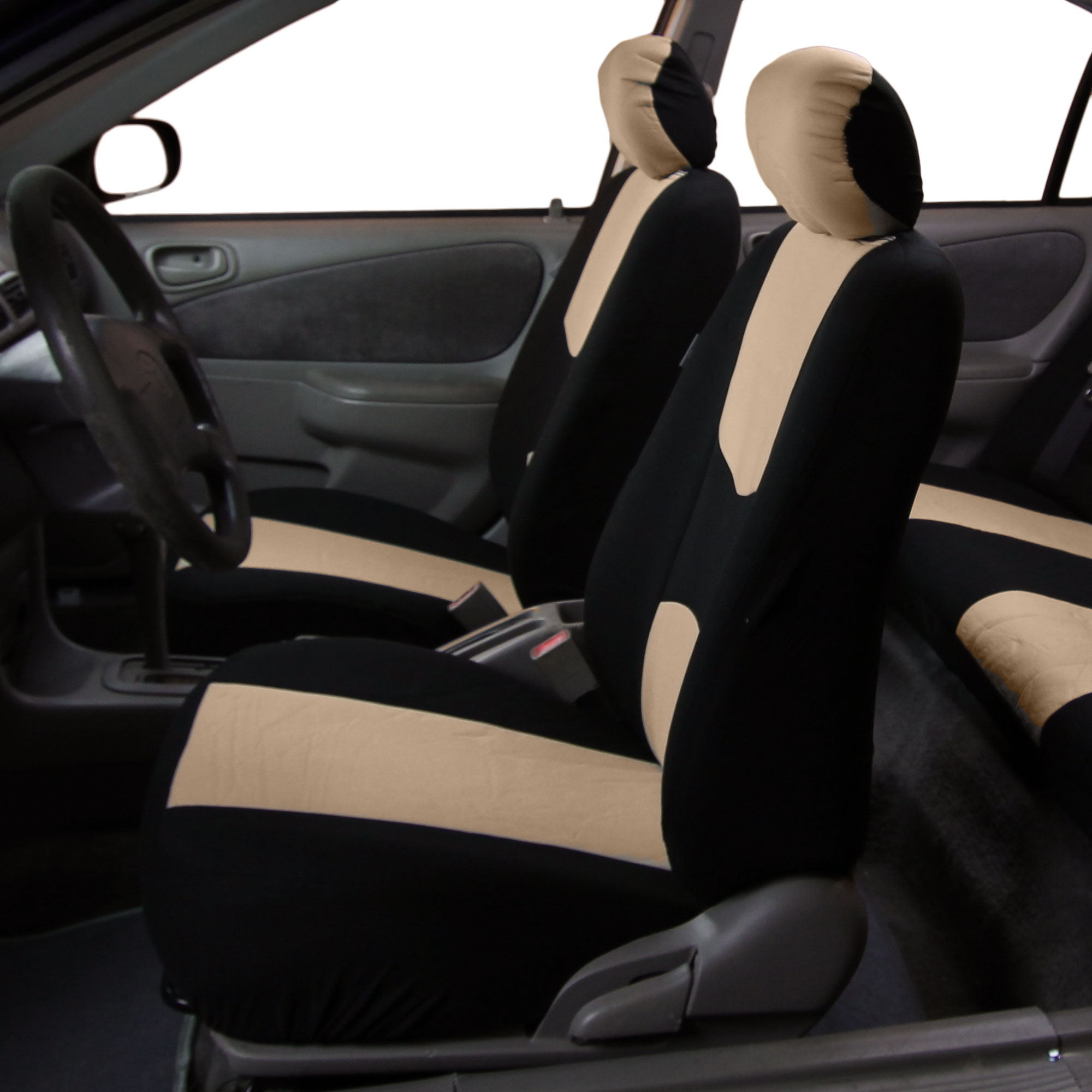 8 Piece Lowback Flat Cloth Full Set Auto Seat Covers | eBay