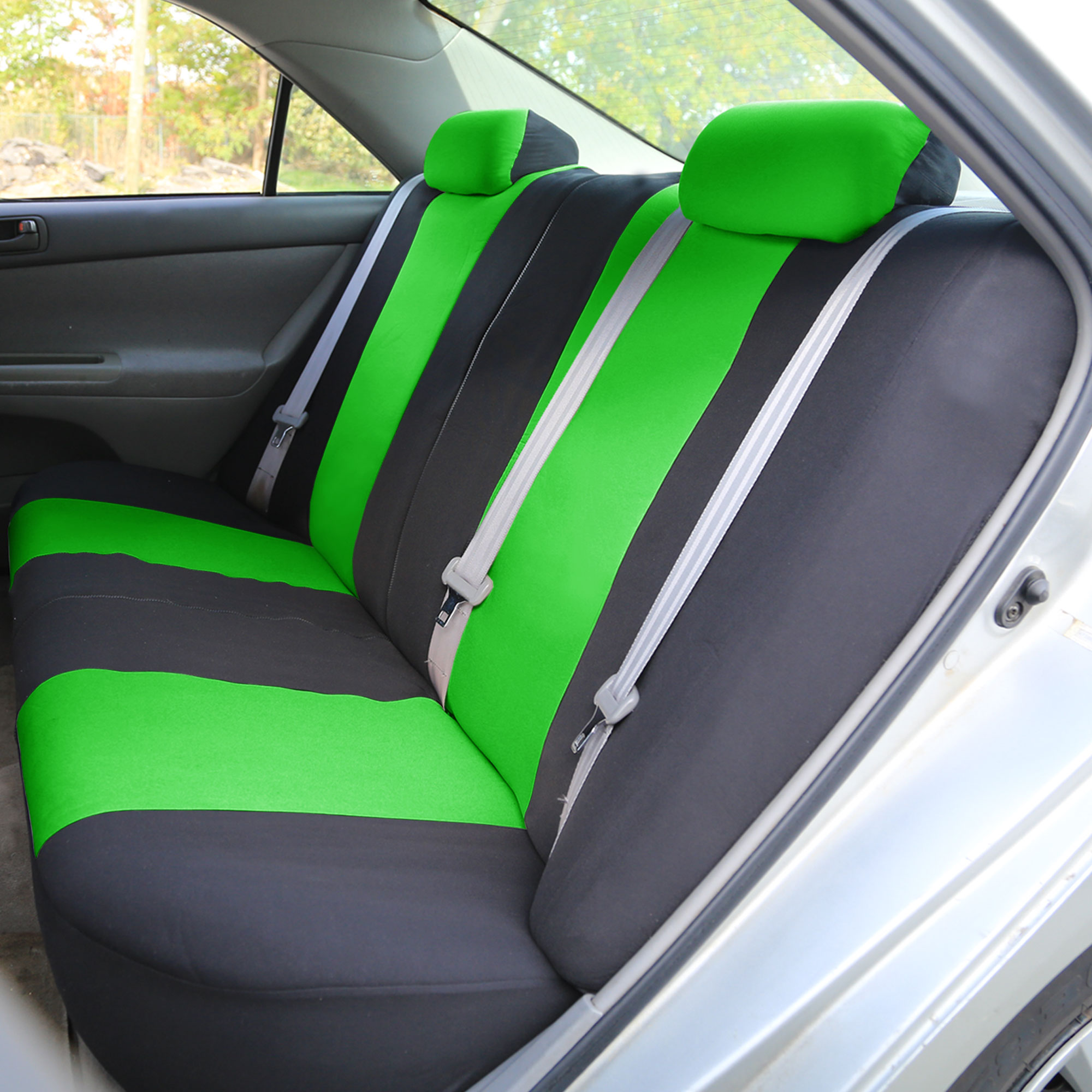 8 piece lowback flat cloth full set auto seat covers ebay. Black Bedroom Furniture Sets. Home Design Ideas