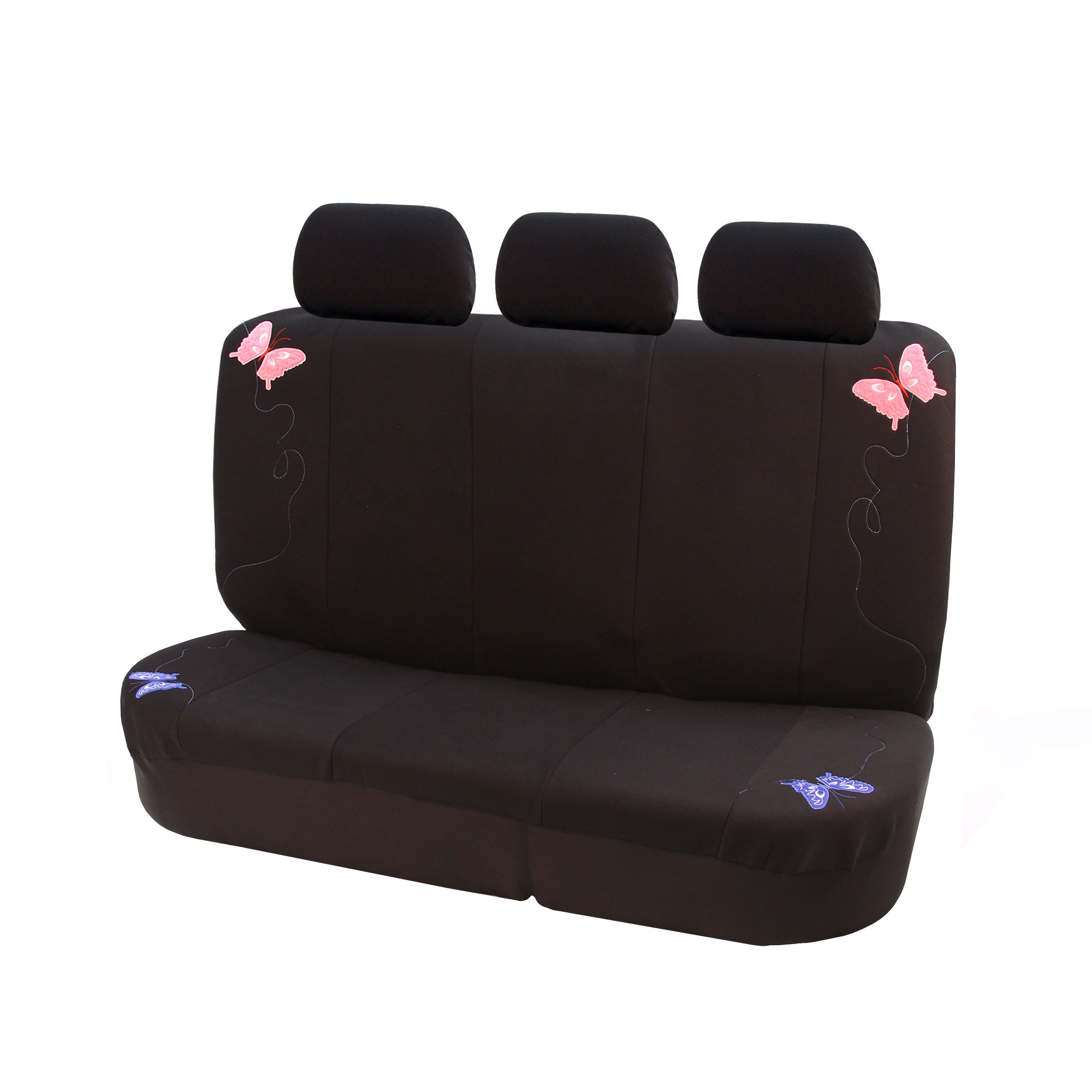 Butterfly Embroidered Fabric Car Seat Covers With Floor
