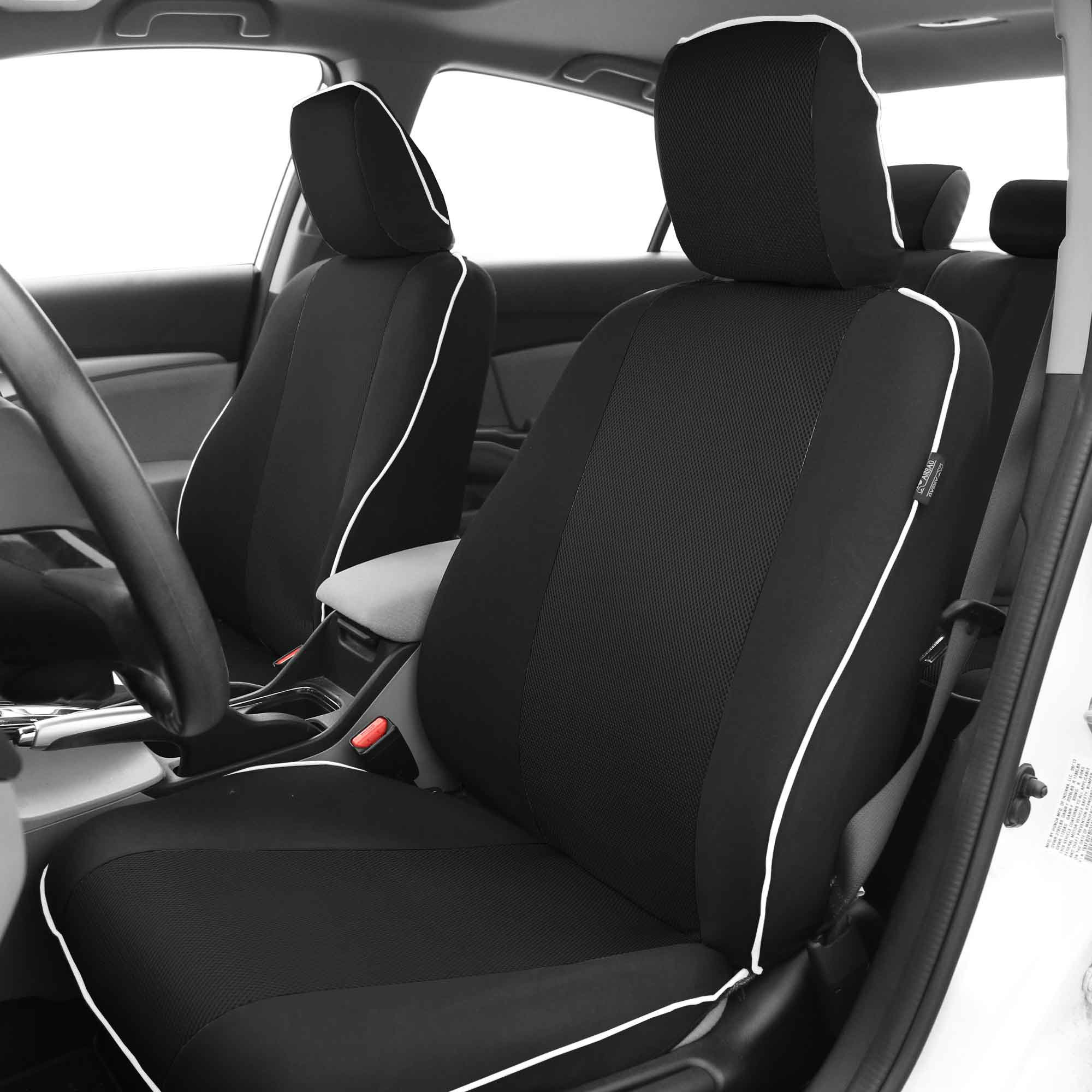 AUDI A4 ALLROAD BLACK SEAT COVERS WITH GREY PIPING
