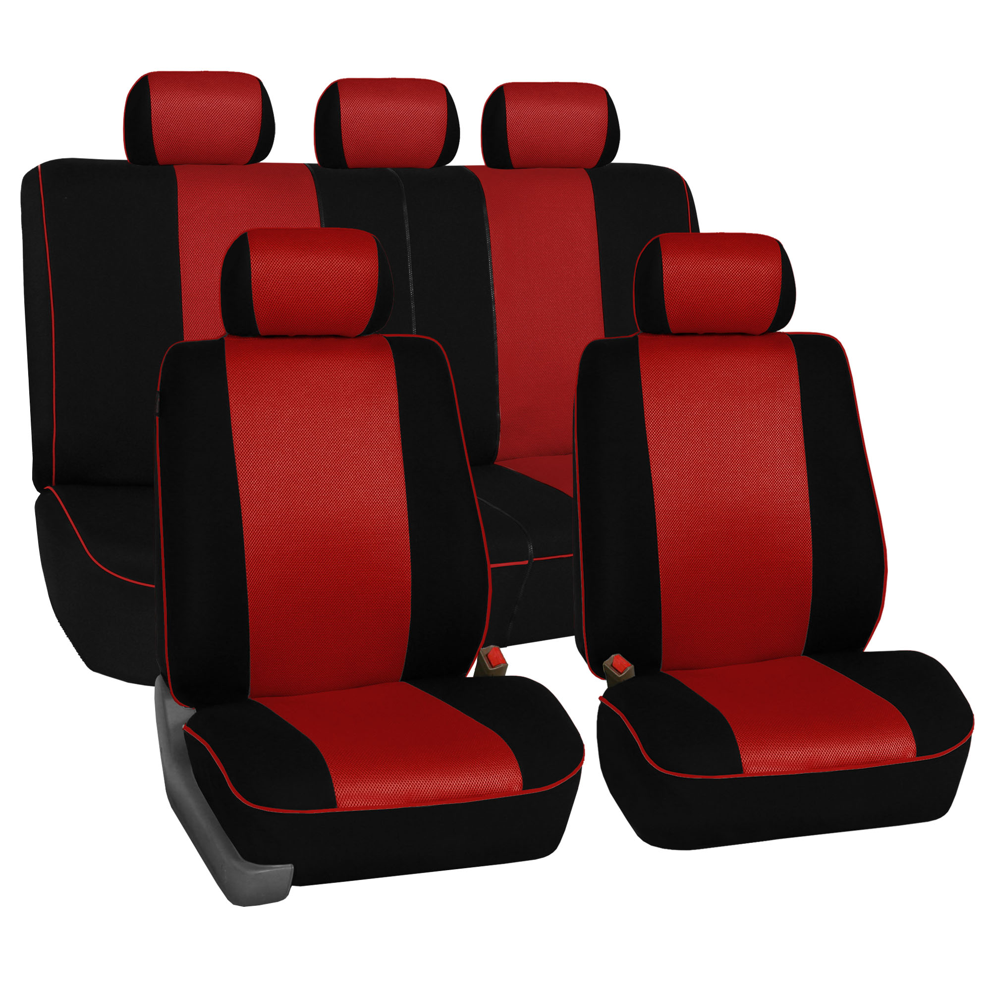 Edgy Piping Style 3 Row Seat Covers For 2 Bucket Amp 2 Bench
