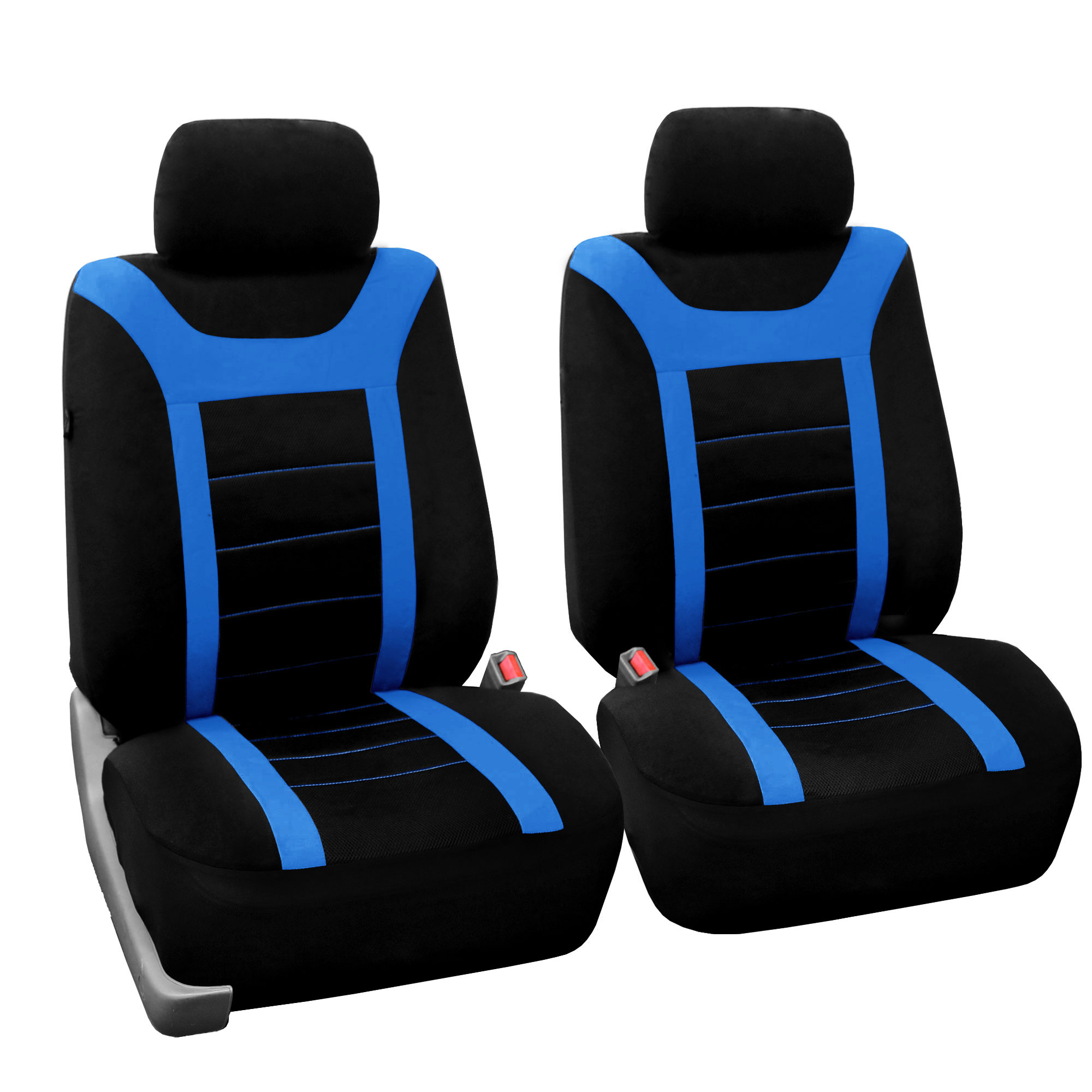 Sports Car Seat Covers Complete Set With Floor Mats Blue Ebay