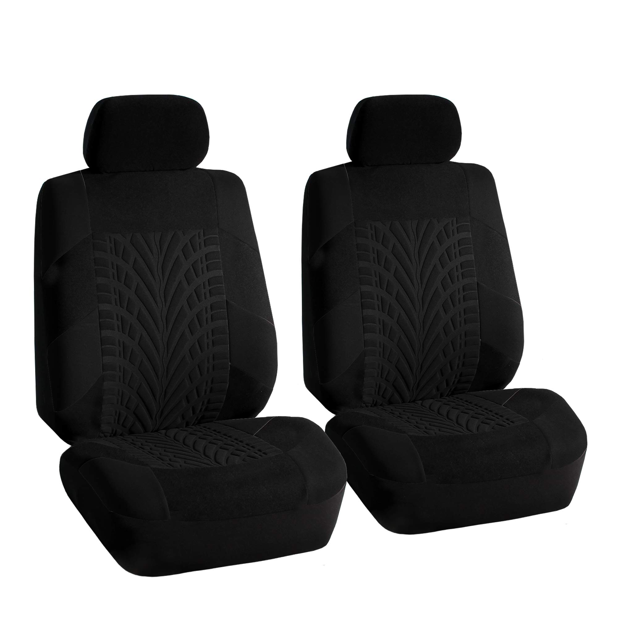 Car Seat Covers Black Combo With Heavy Duty Black Floor