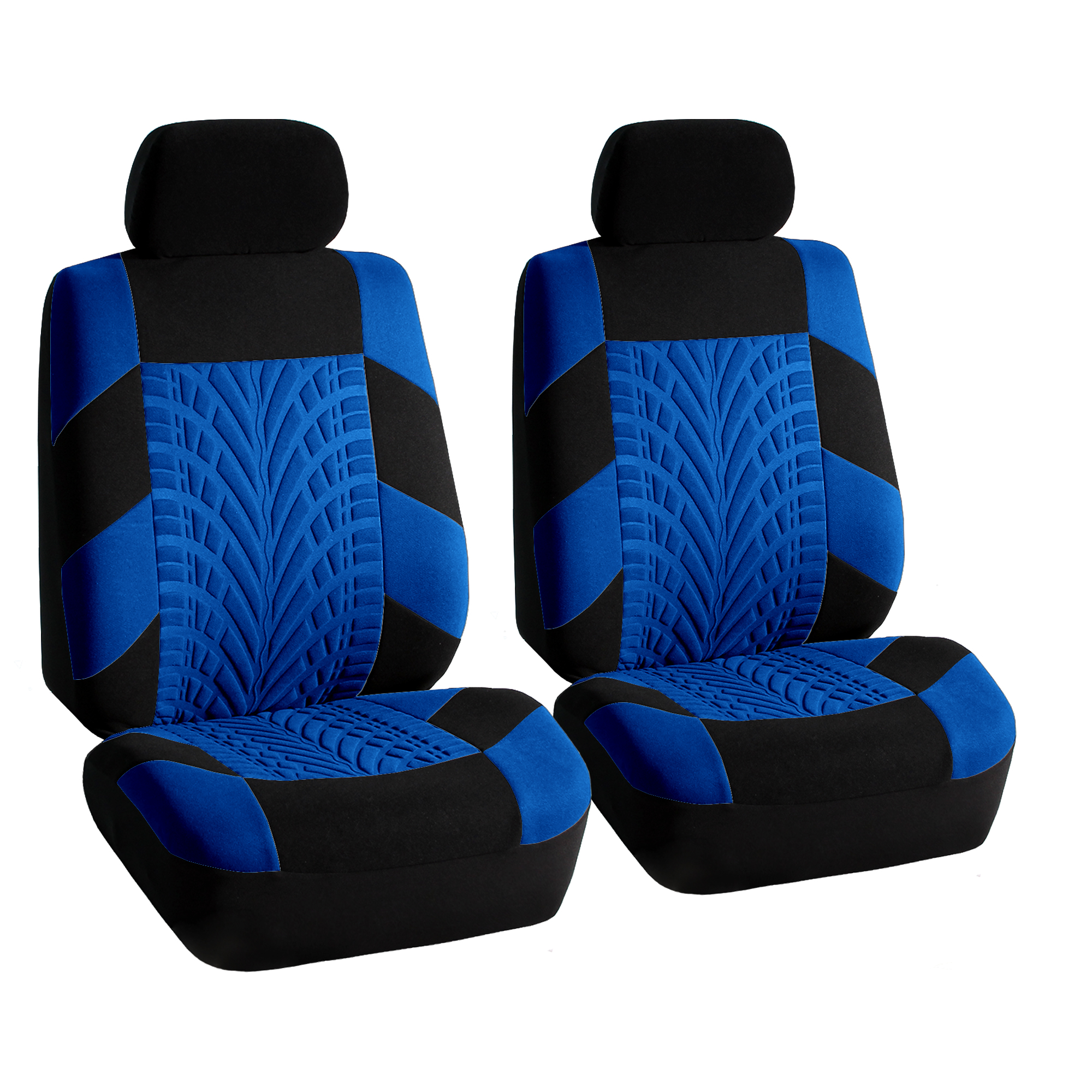 Blue Car Seat Covers Set For Auto W/Floor Mat 807151115610