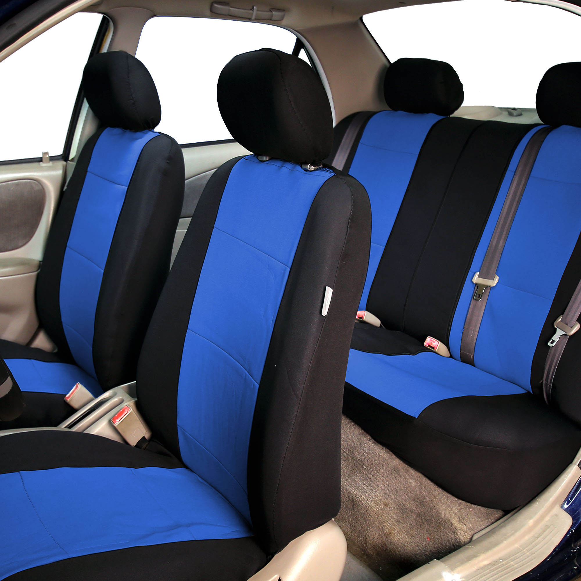 Car-Seat-Cover-Neoprene-Waterproof-Pet-Proof-Full-Set-Cover-With-Dash-Pad thumbnail 28