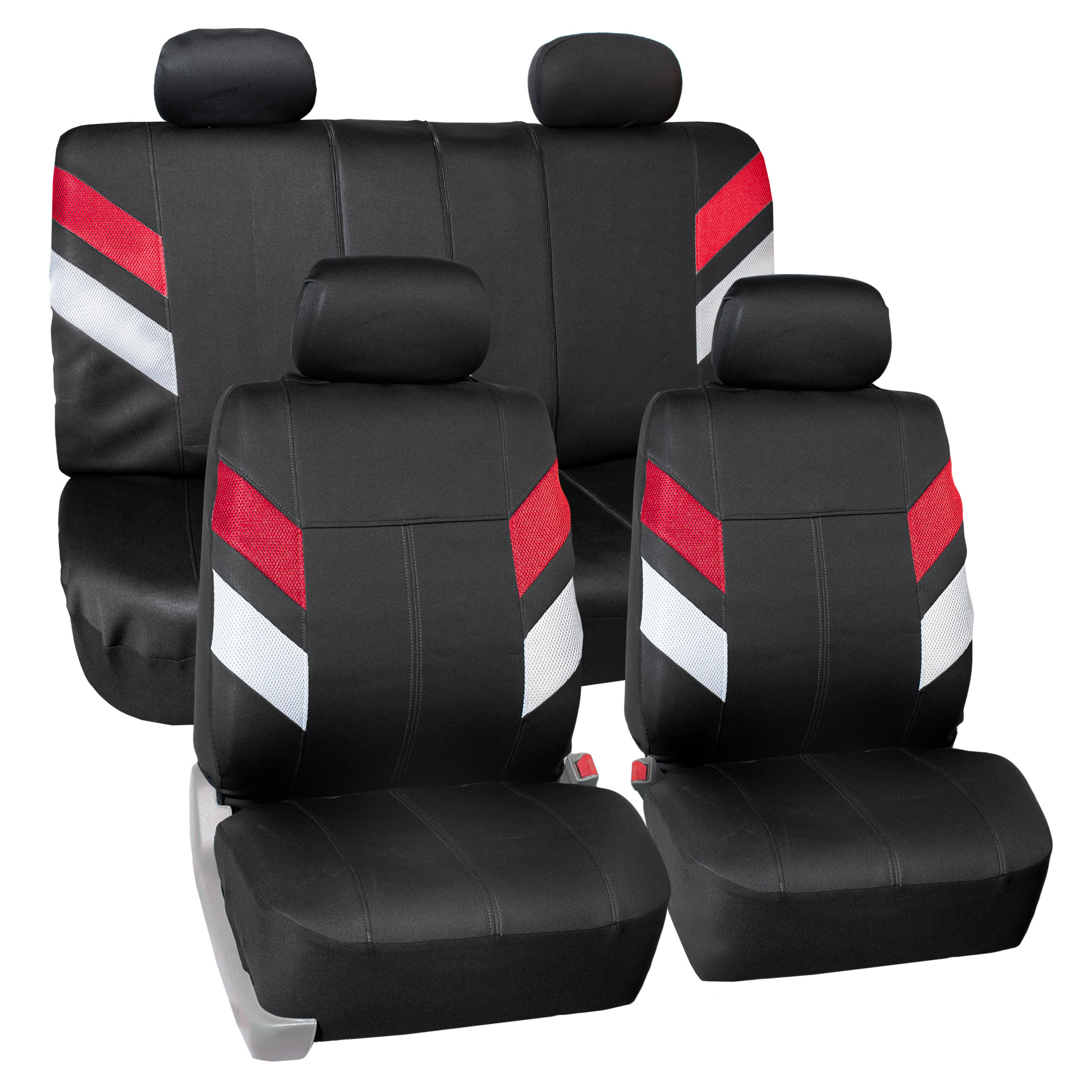 Neoprene Car Seat Covers For Auto Car SUV Van 4 Headrest