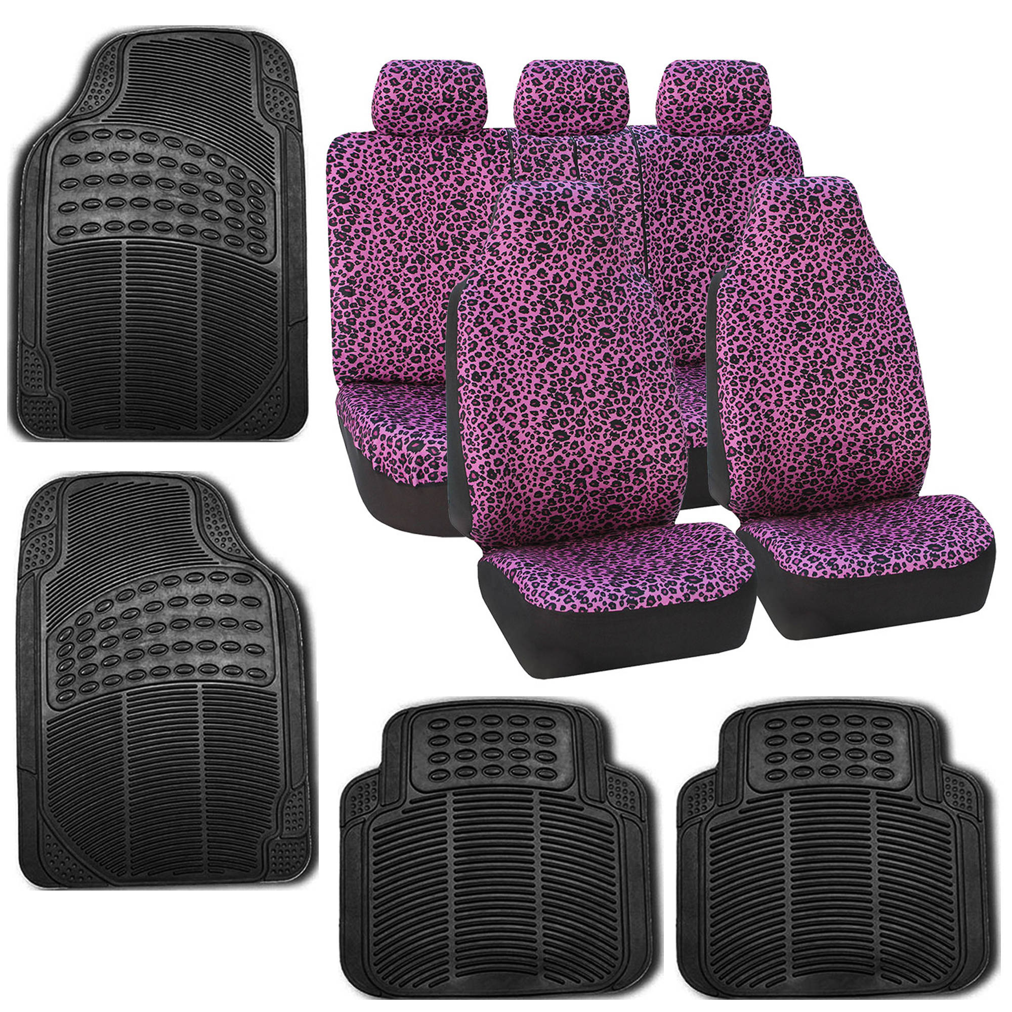 black mats rubber rakuten seat auto pink for cover universal mat product shop floor combo car bestfh w