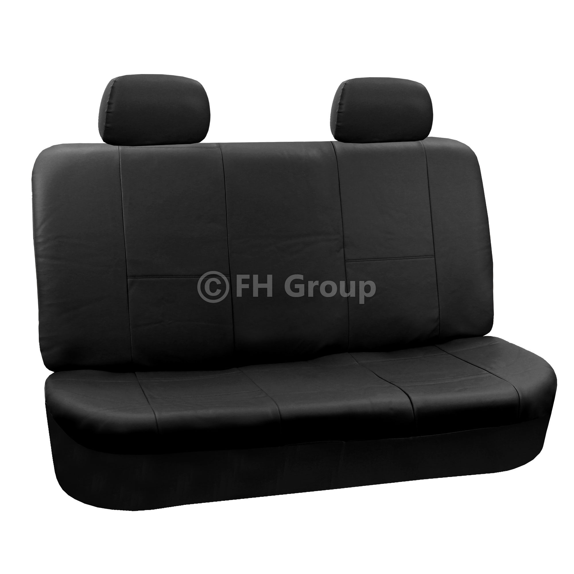 PU Leather Car Seat Covers W. Floor Mats For Solid Bench