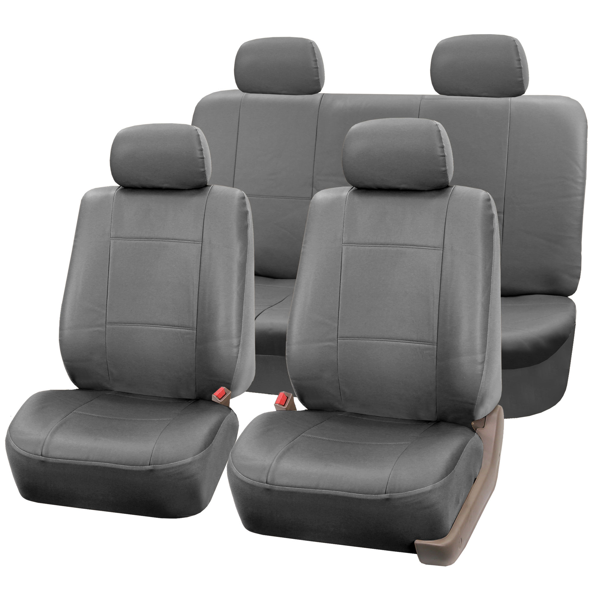 Ebay Car Seat Covers >> PU Leather Bucket Seat/Full Set Covers for Seats with Headrests | eBay