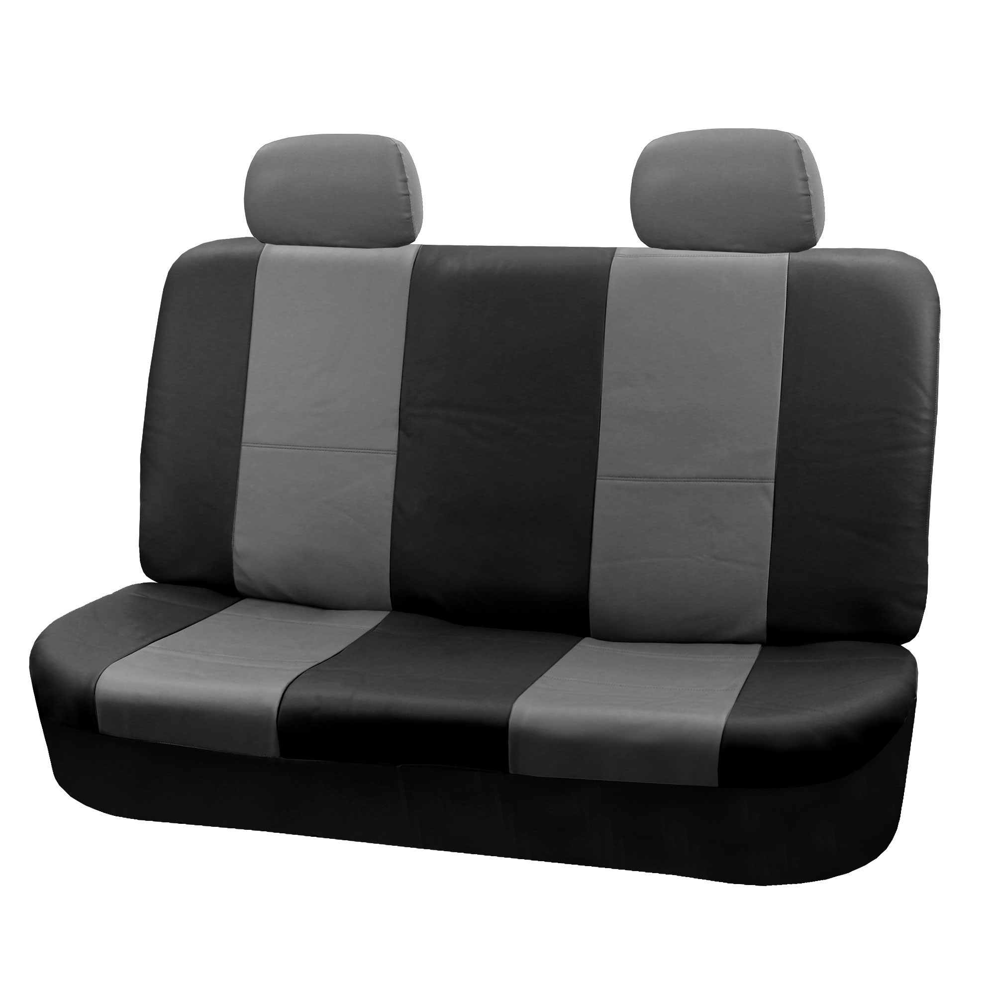 pu leather bucket seat full set covers for seats with headrests ebay. Black Bedroom Furniture Sets. Home Design Ideas