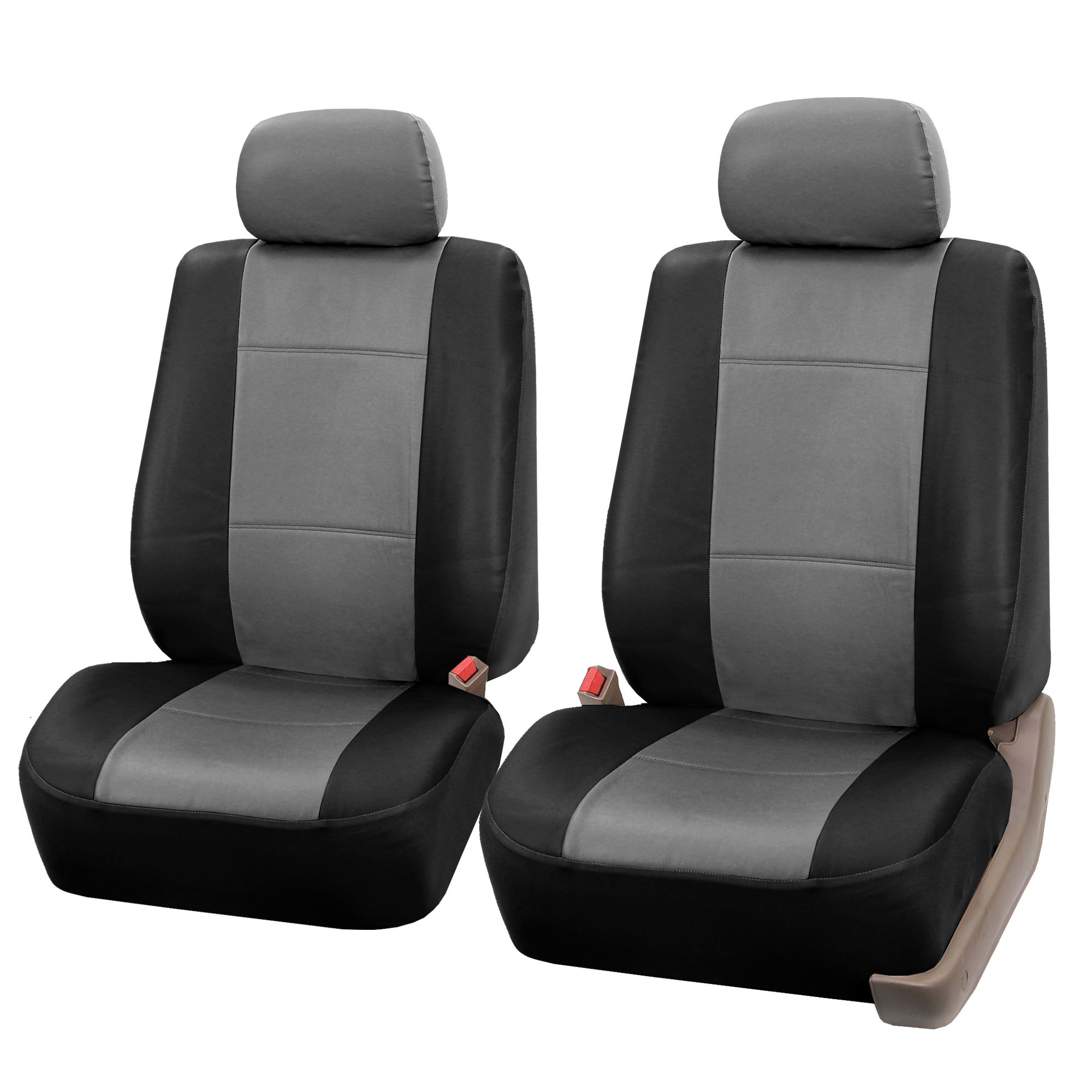PU Leather Bucket Seat Full Set Covers for Seats with Headrests