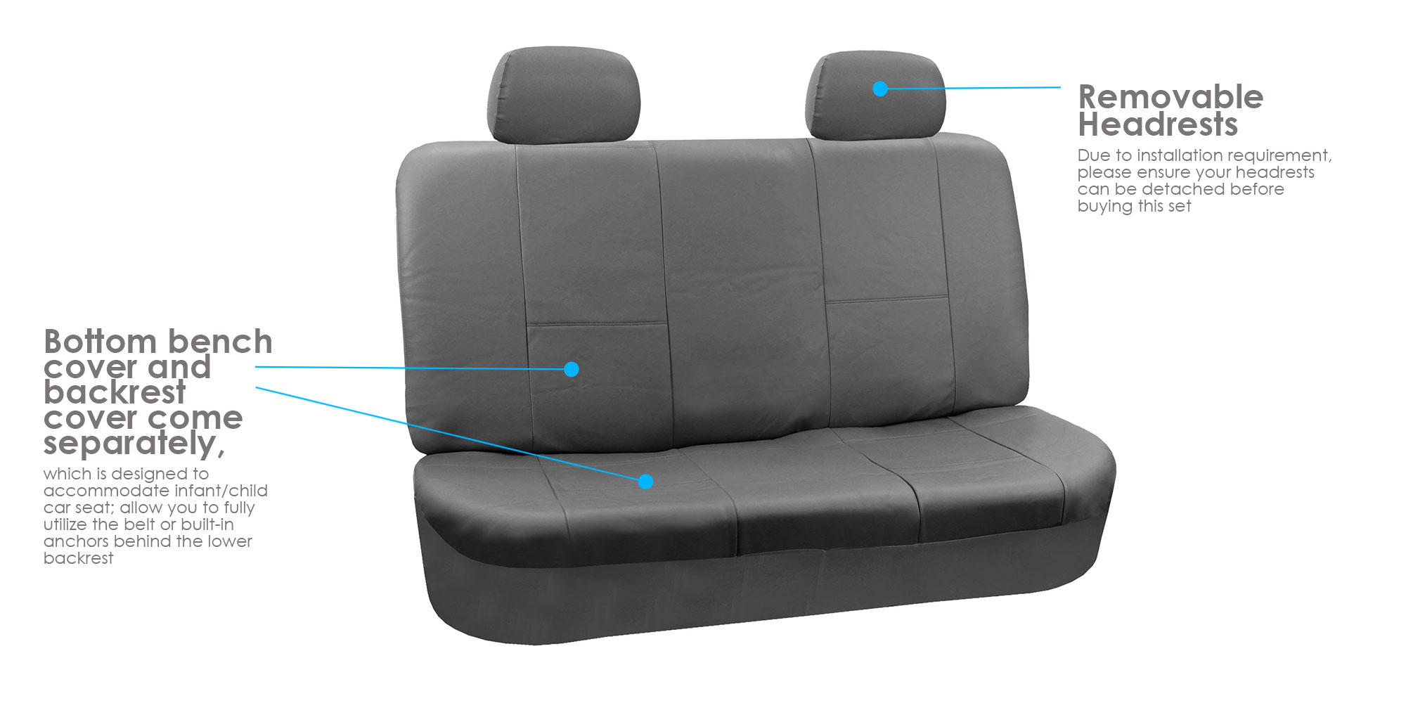 Faux Leather Car Seat For Auto SUV