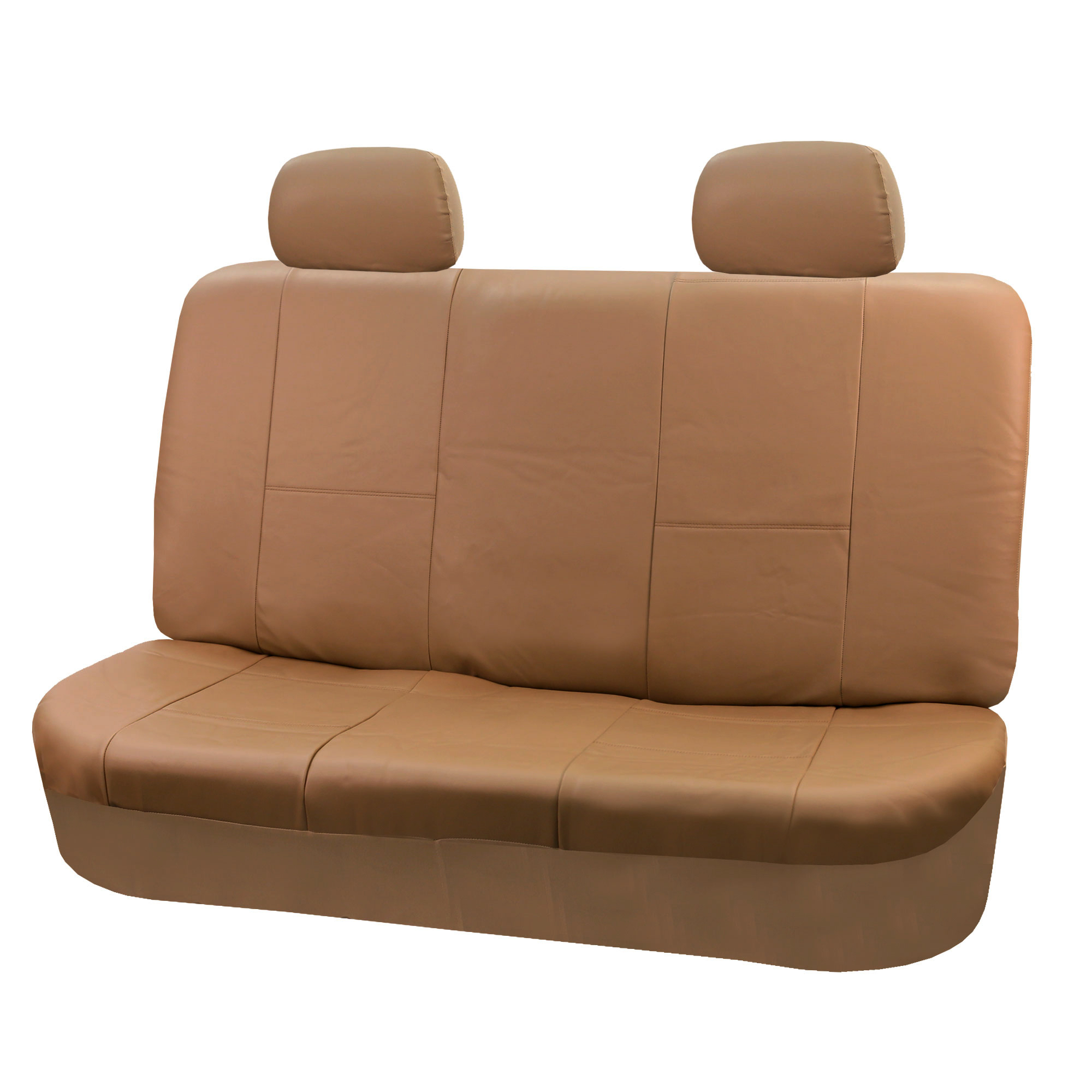 PU Leather Car Seat Covers for Auto Solid Black 4 Headrests