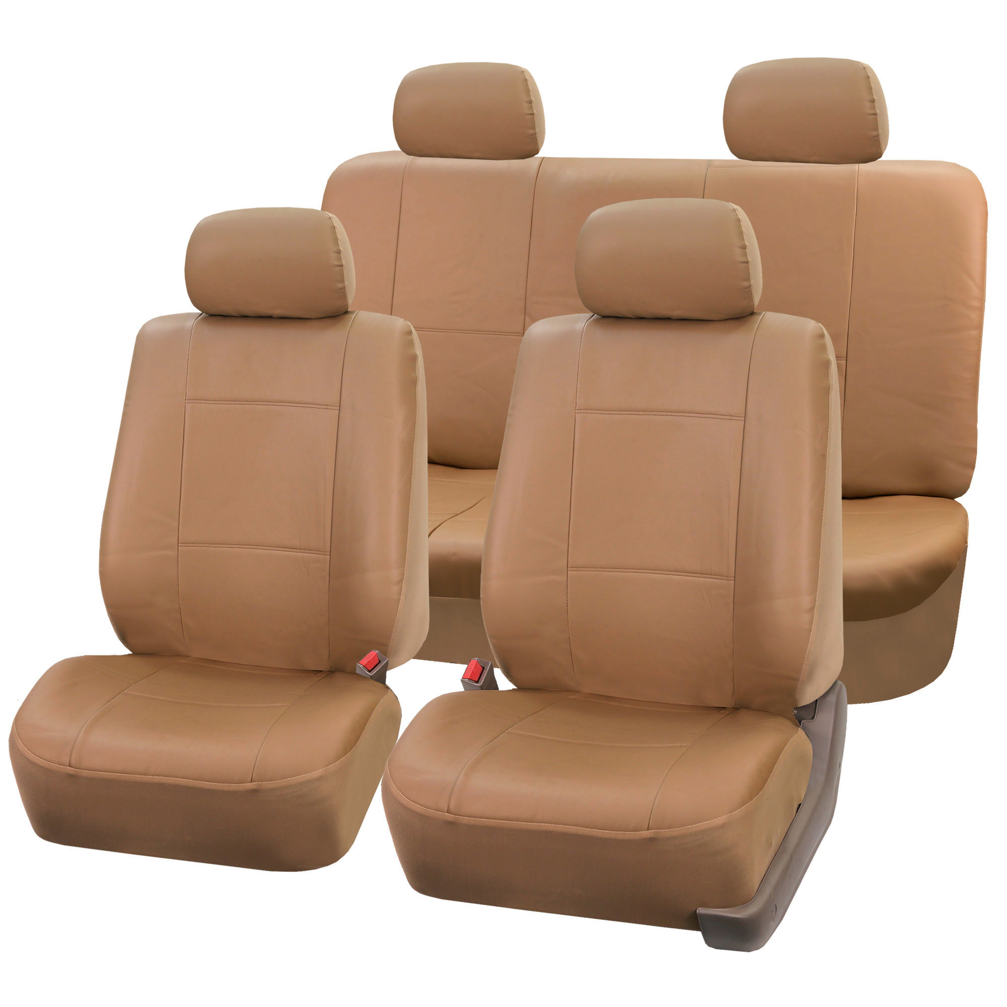 PU Leather Bucket Seat Covers For Seats With Detachable