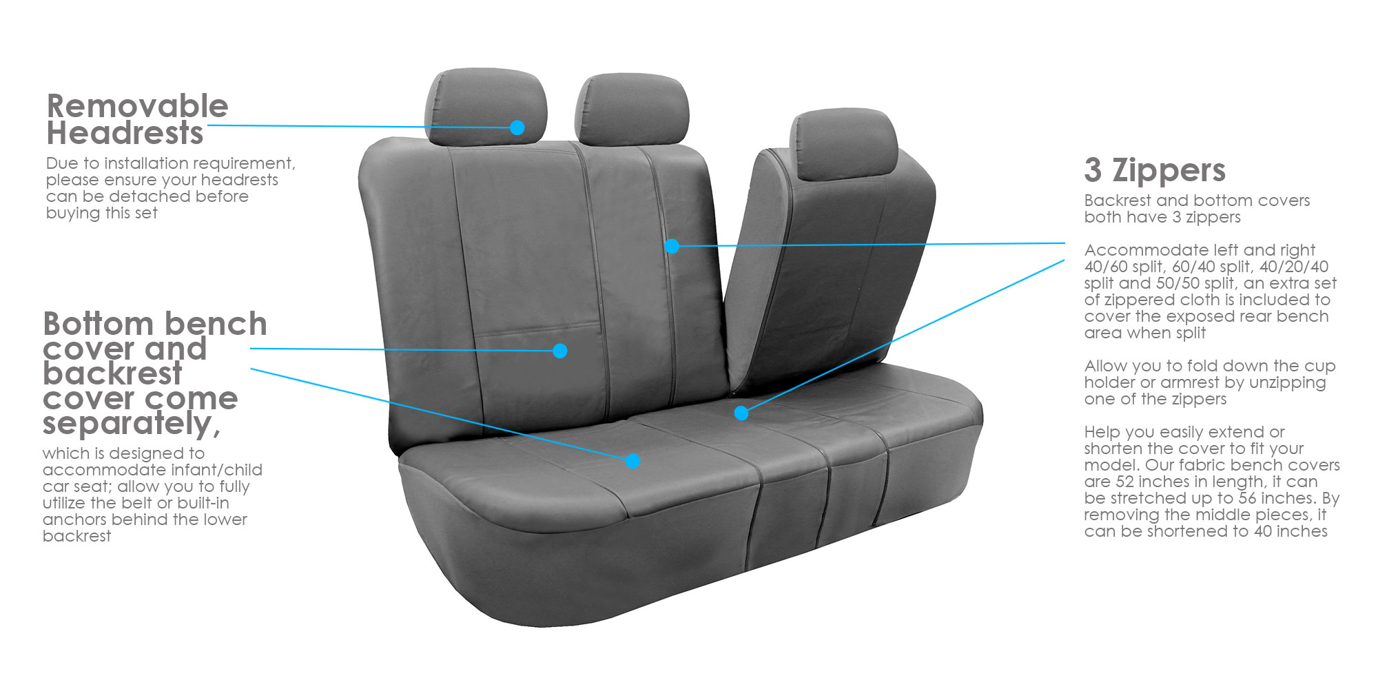 Astounding Pu Leather Car Seat Covers W Floor Mats For Split Bench Caraccident5 Cool Chair Designs And Ideas Caraccident5Info