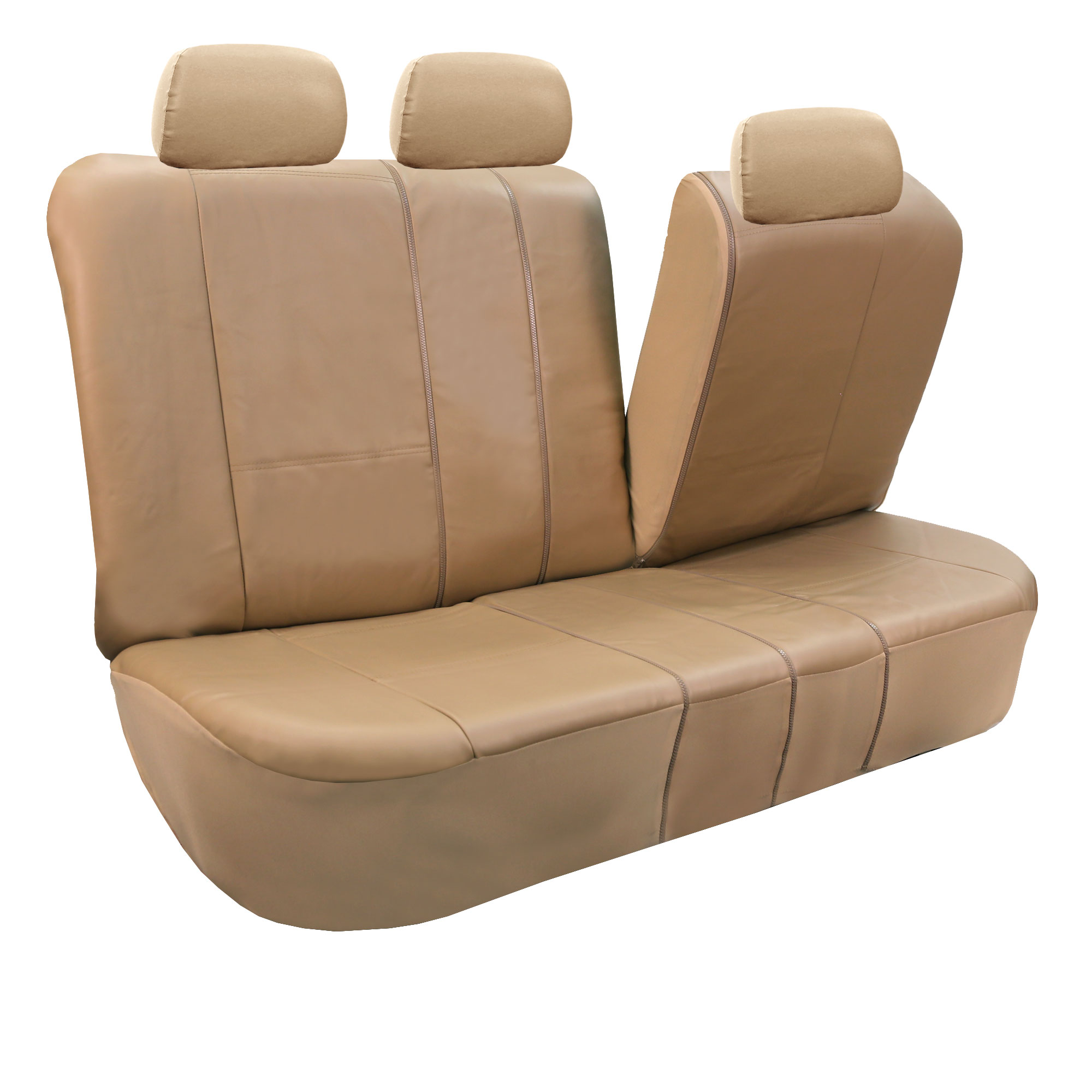 pu leather auto seat covers full set air bag safe split bench ready ebay. Black Bedroom Furniture Sets. Home Design Ideas
