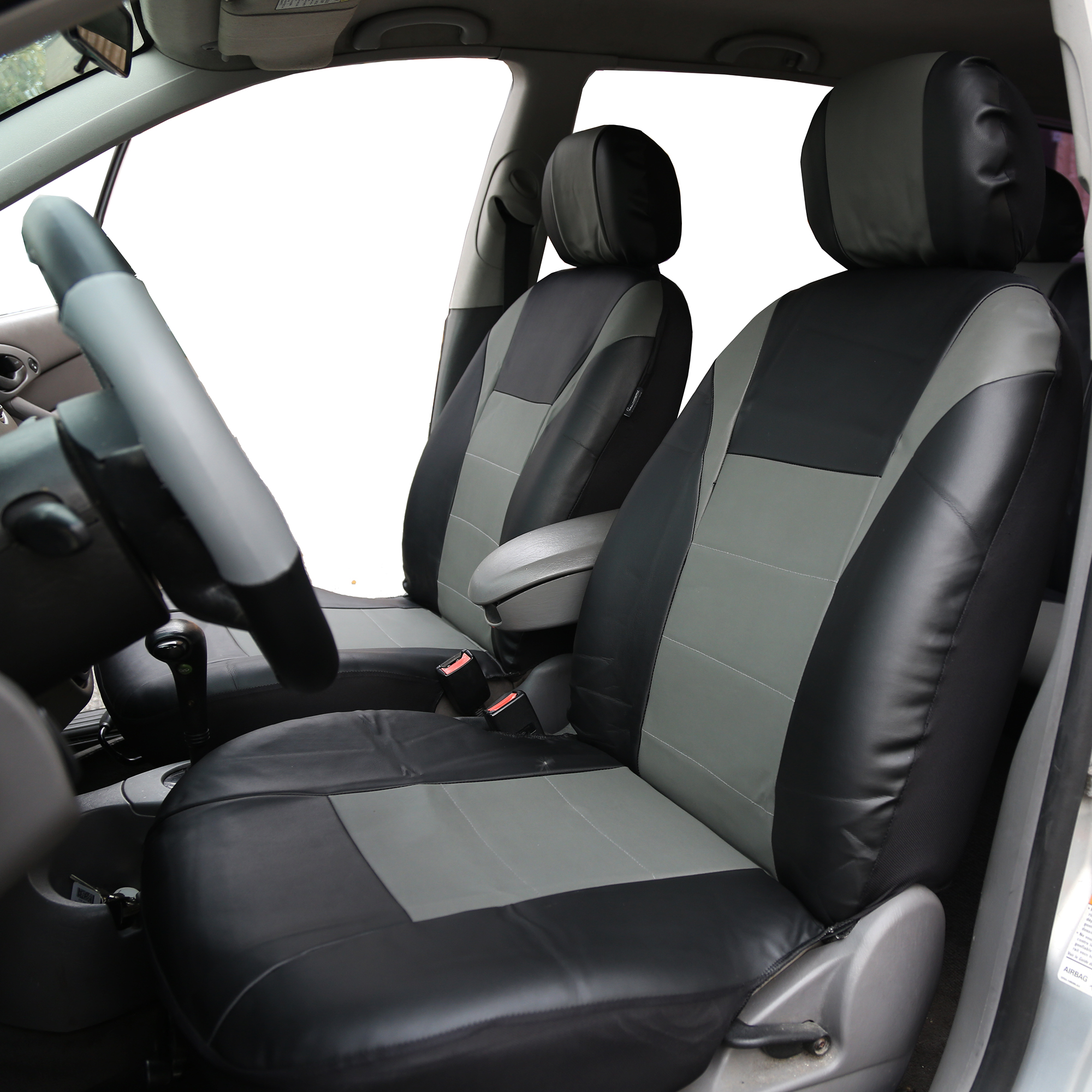 full set black leatherette//polyester Car seat covers fit Toyota Prius