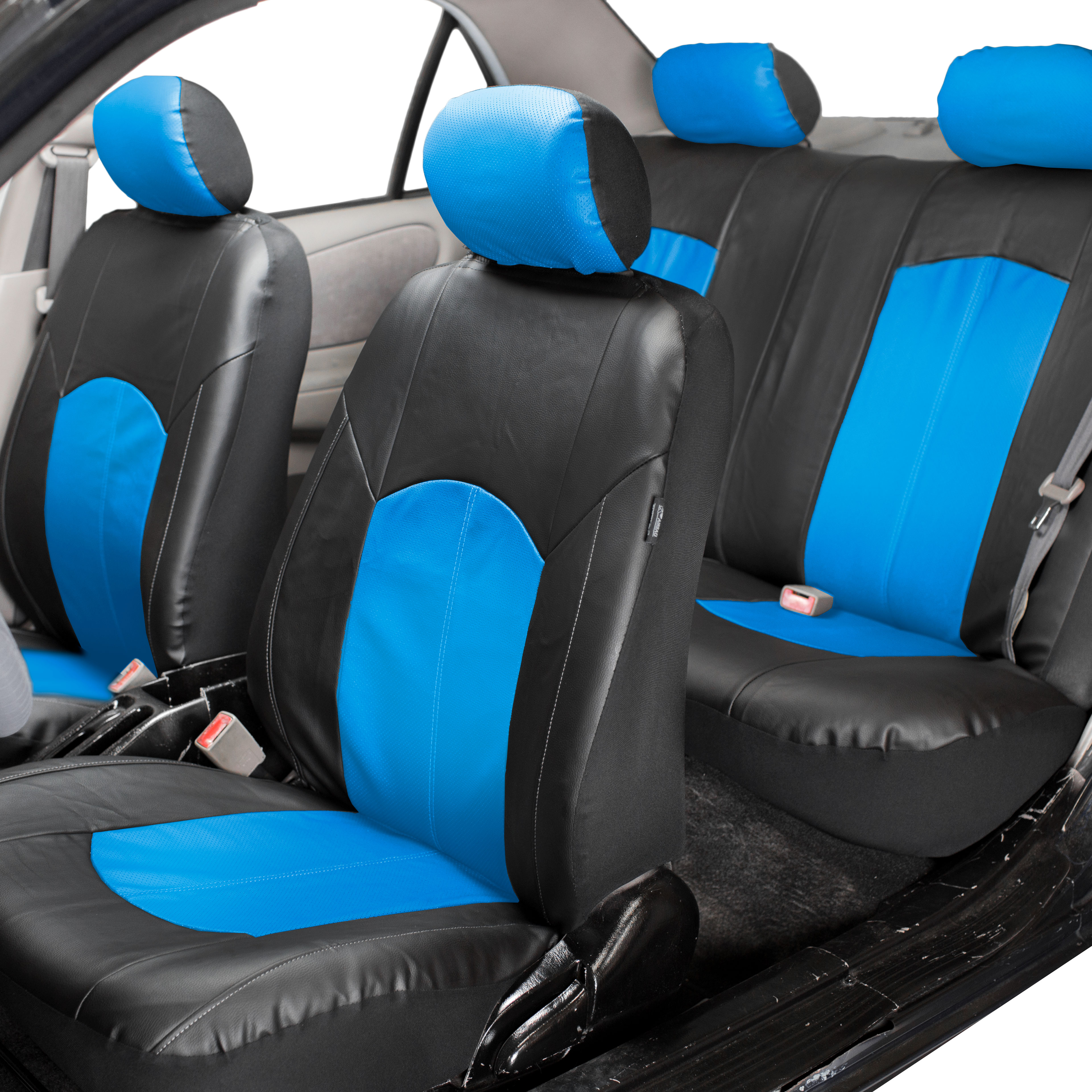 Image Is Loading Deluxe FAUX Leather Car Seat Covers Sport Top