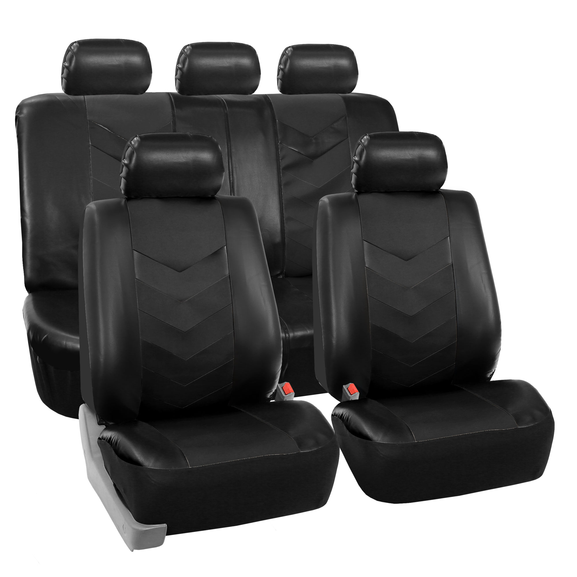 black seat mercedes ready itm leather benz faux car split synthetic airbag covers ebay