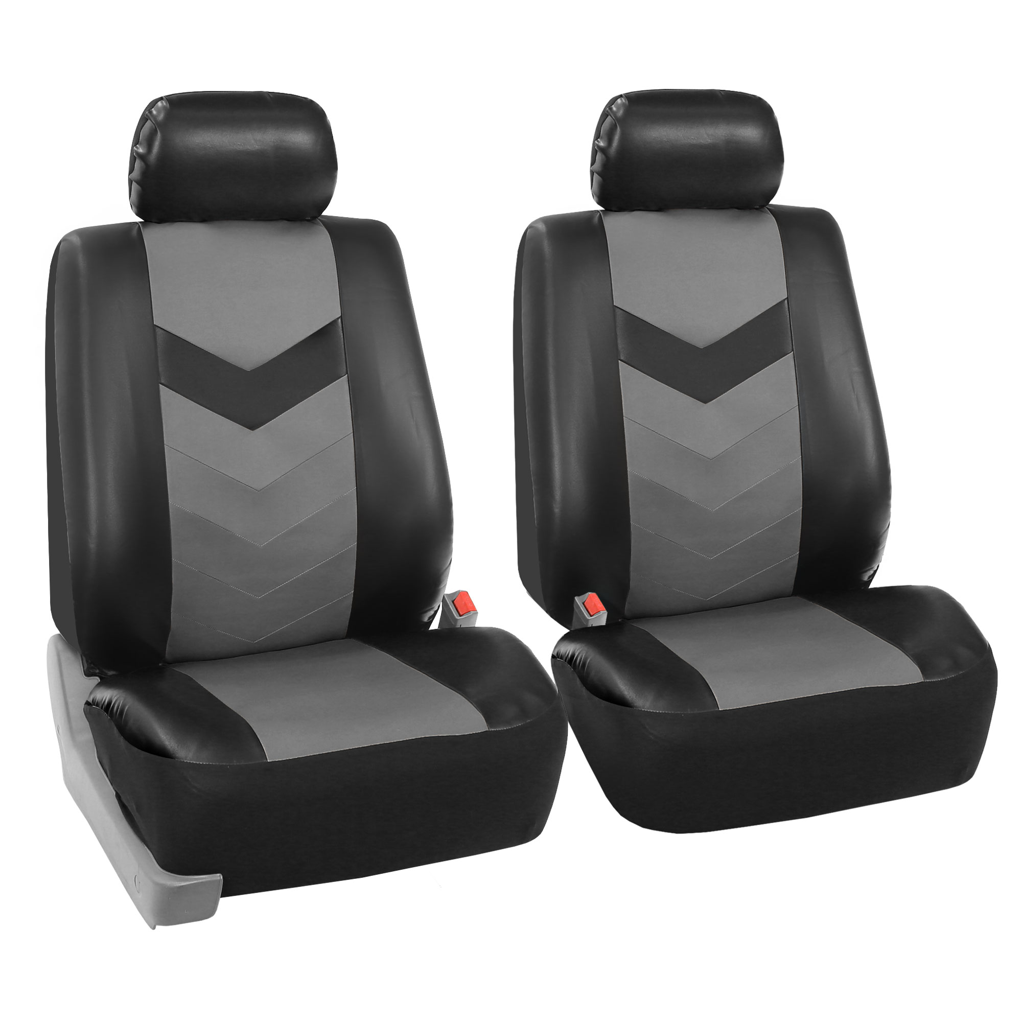 Synthetic Leather Seat Covers Car Suv Auto W Steering Wheel Belt