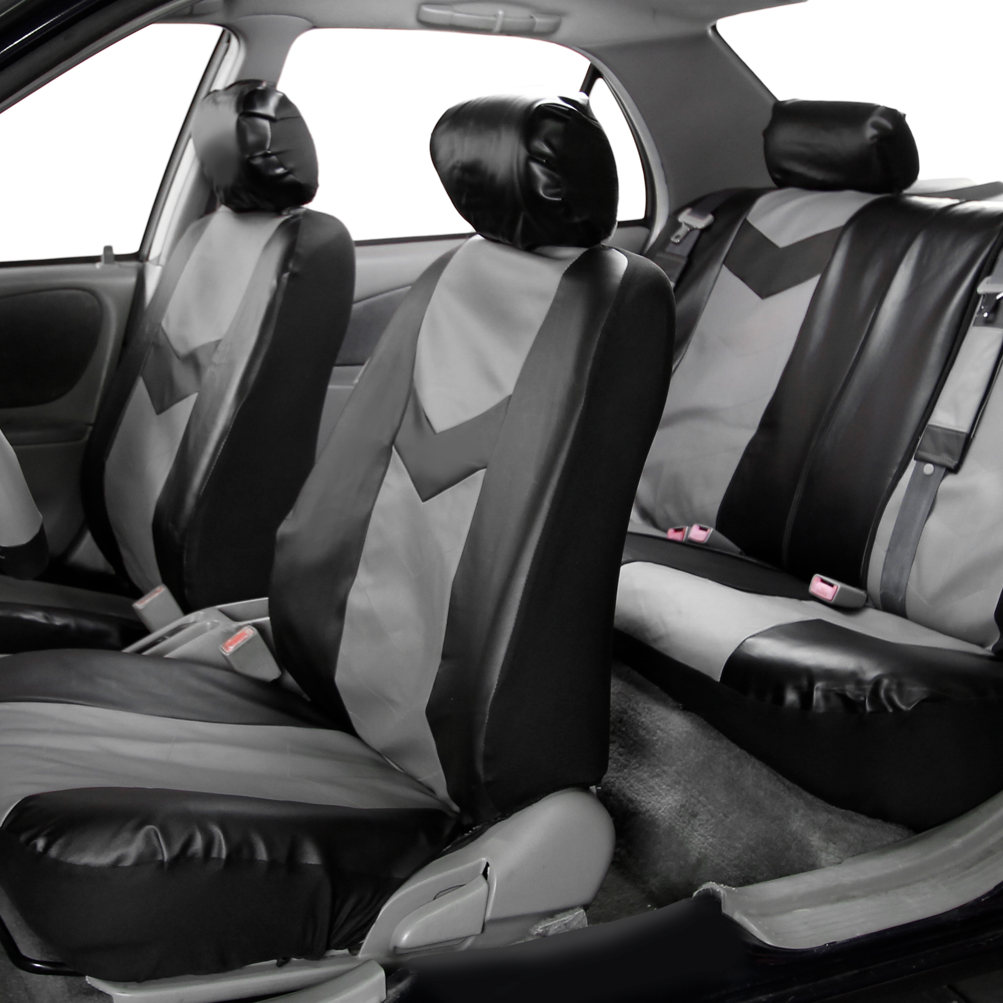 Faux Leather Car Seat Covers Sport Line Set W Free Air Freshener