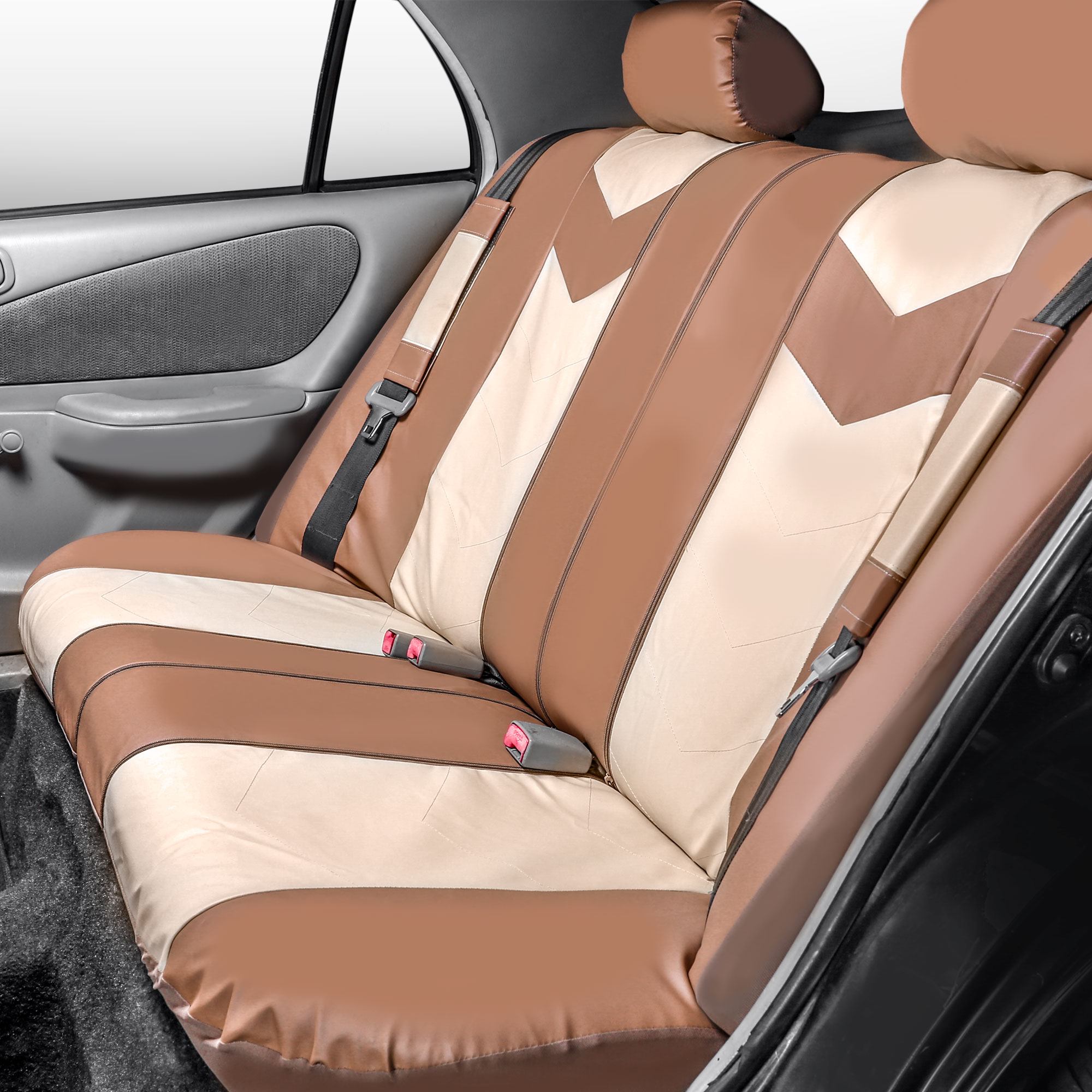 Synthetic Leather Full Set Auto Seat Covers Air Bag Safe