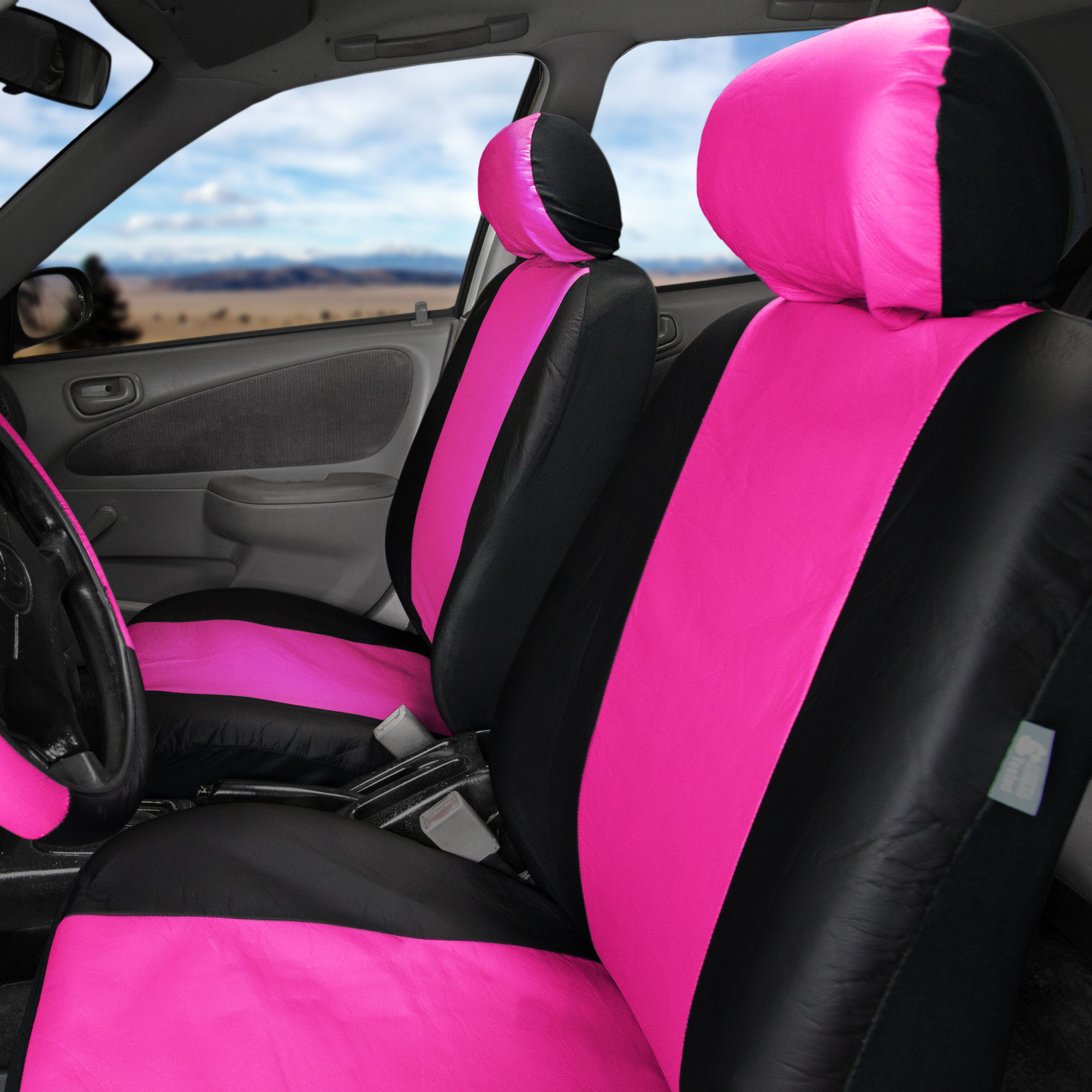 Leatherette Car Seat Covers Front Rear Full Set Synthetic Leather ...